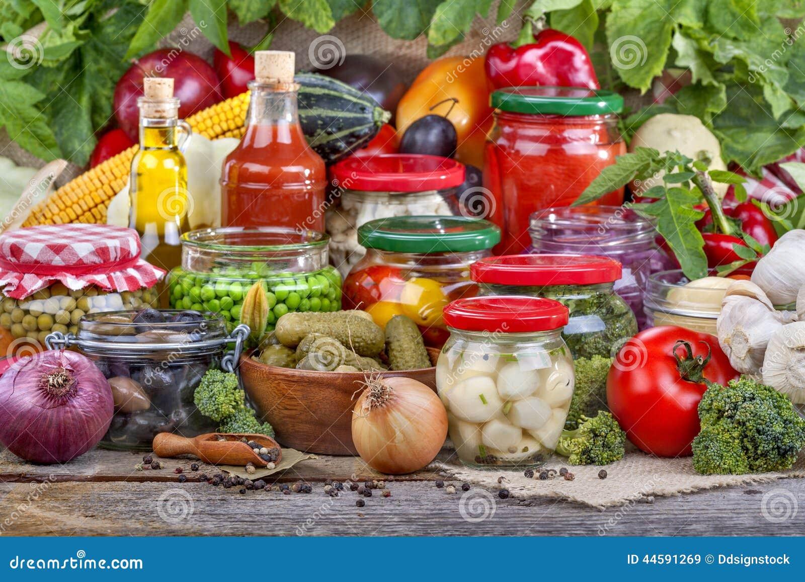 Bewahrung von Obst und Gemüse von