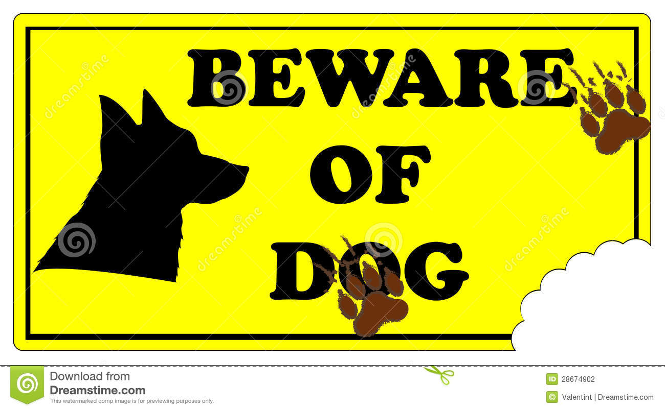 Beware Of Dog Sign Stock Photography Image 28674902