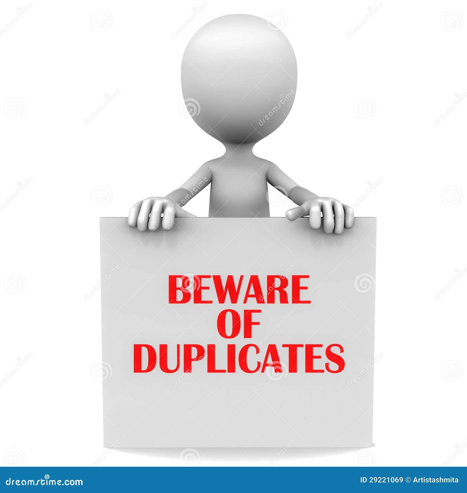 Beware Of Duplicate Stock Illustration Illustration Of Banner 29221069