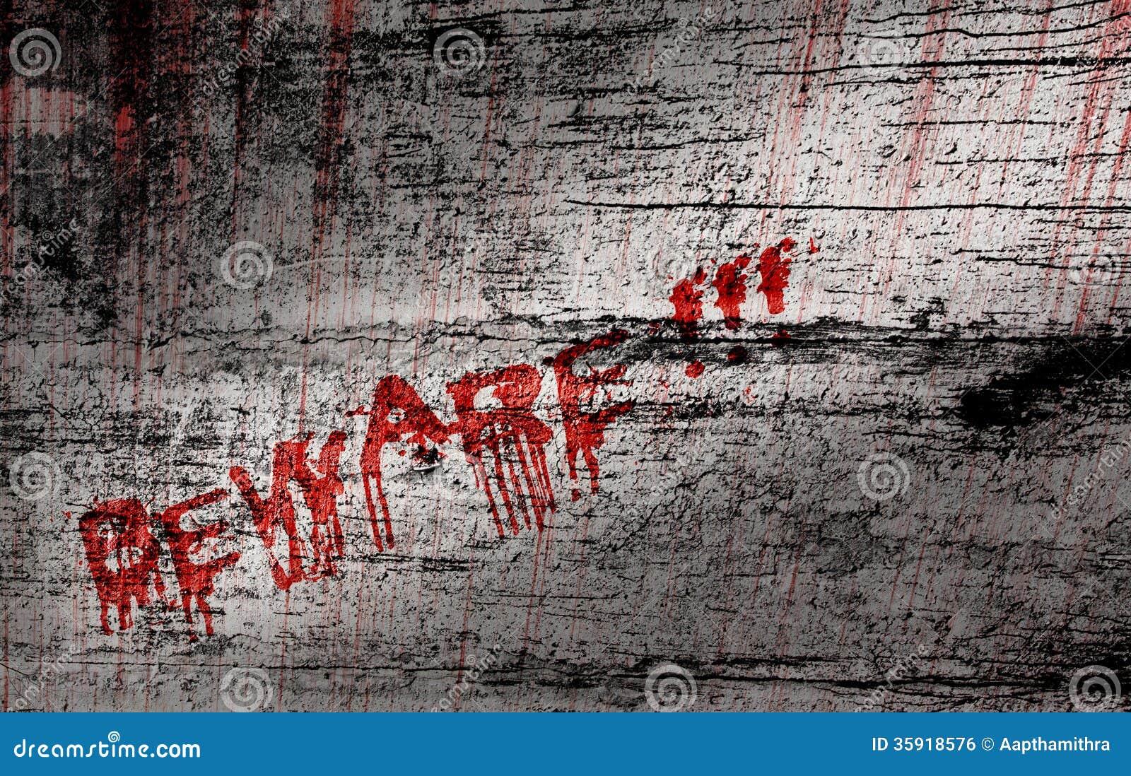 Beware Stock Illustration Image Of Wall Concrete Grunge