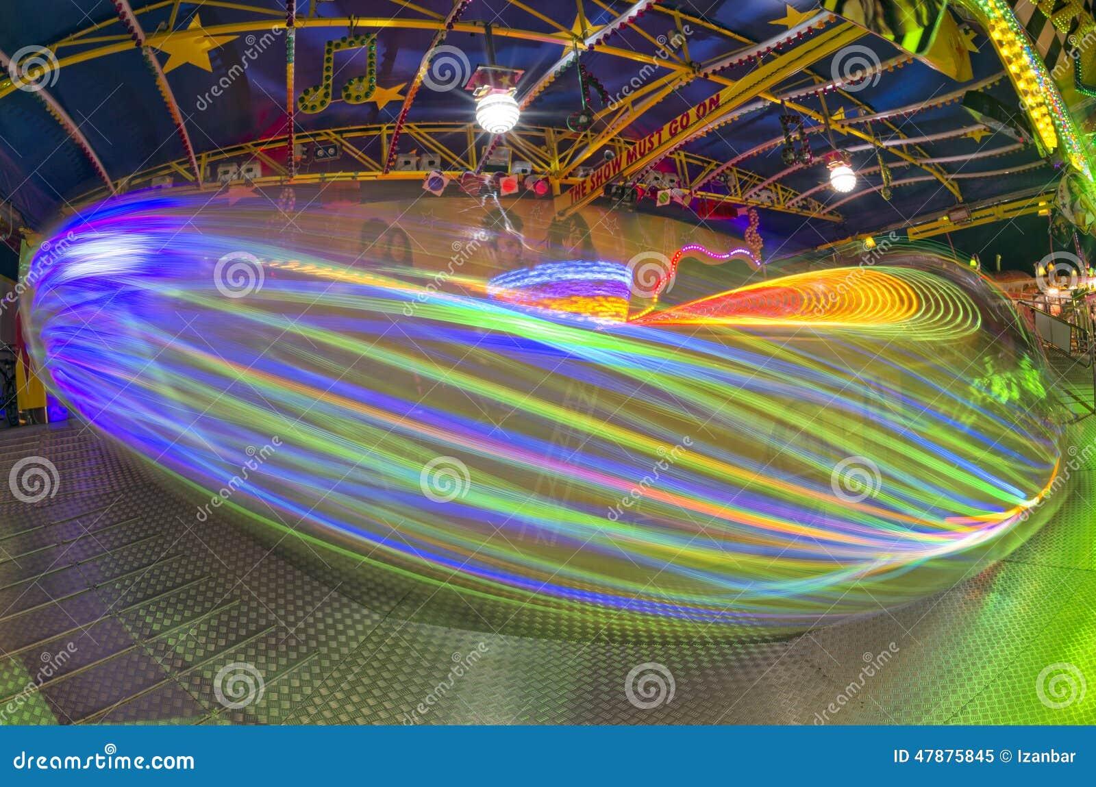 Beweglicher Lichthintergrund Spaß-Messe-Karnevals-Luna Parks