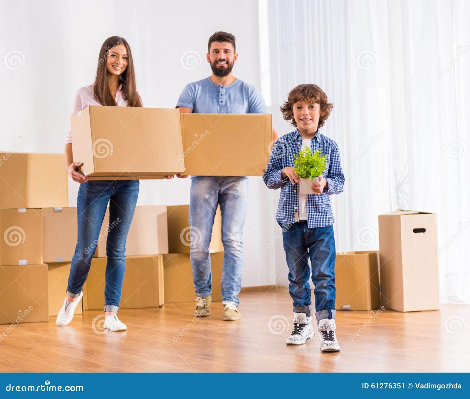 Bewegliches Haus der Familie