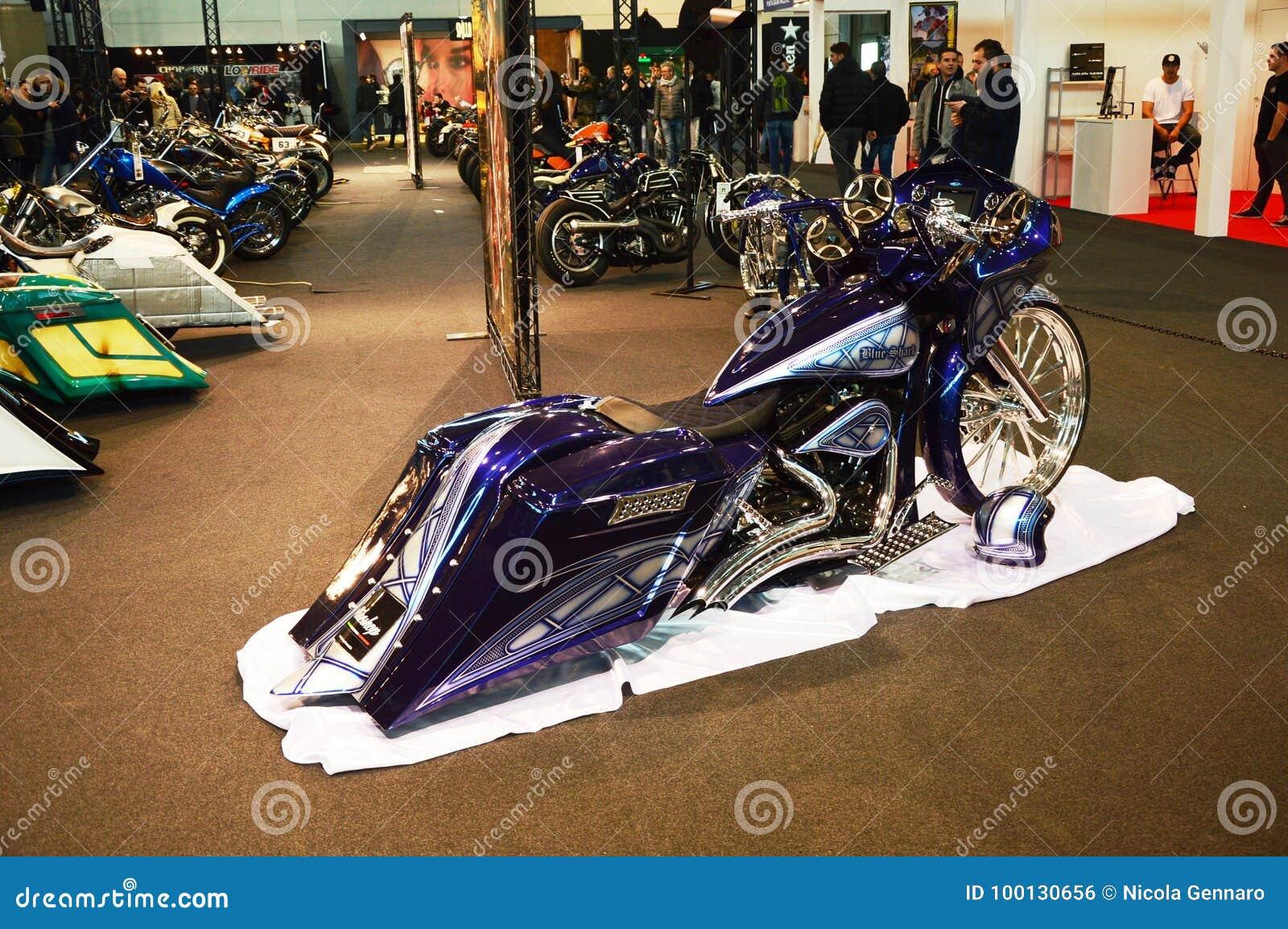 Bewegungsfahrradausstellung, Motorrad Blauhai