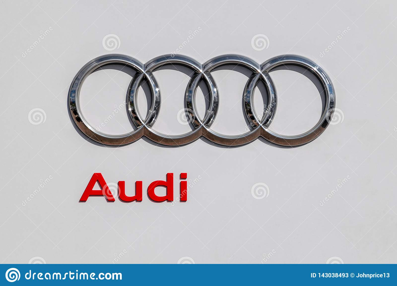 Bexley Kent United Kingdom March 25 2019 Audi Dealership Logo