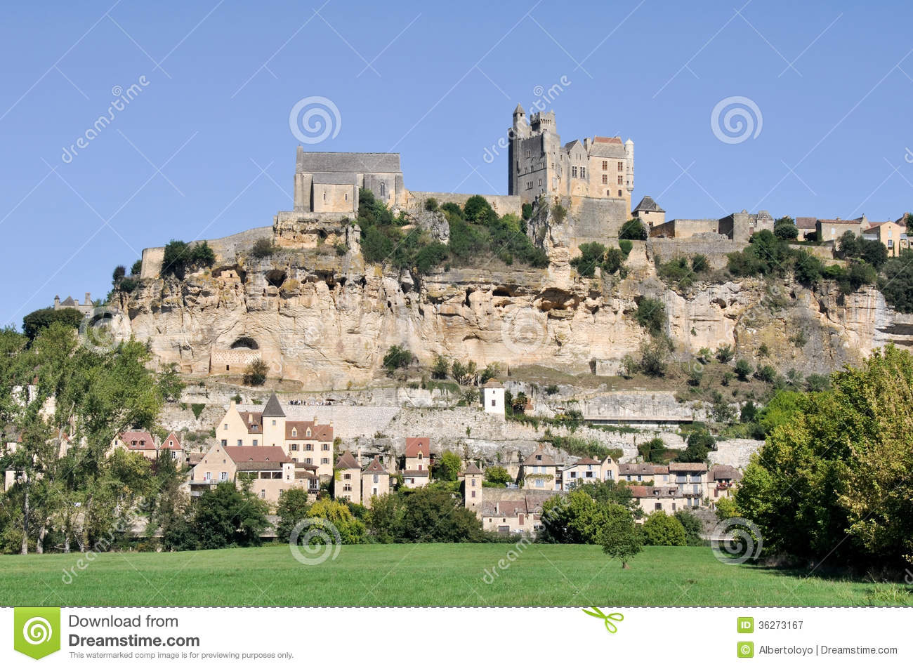 Beynac-et-Cazenac, Dordogne, France Royalty Free Stock Photography ...