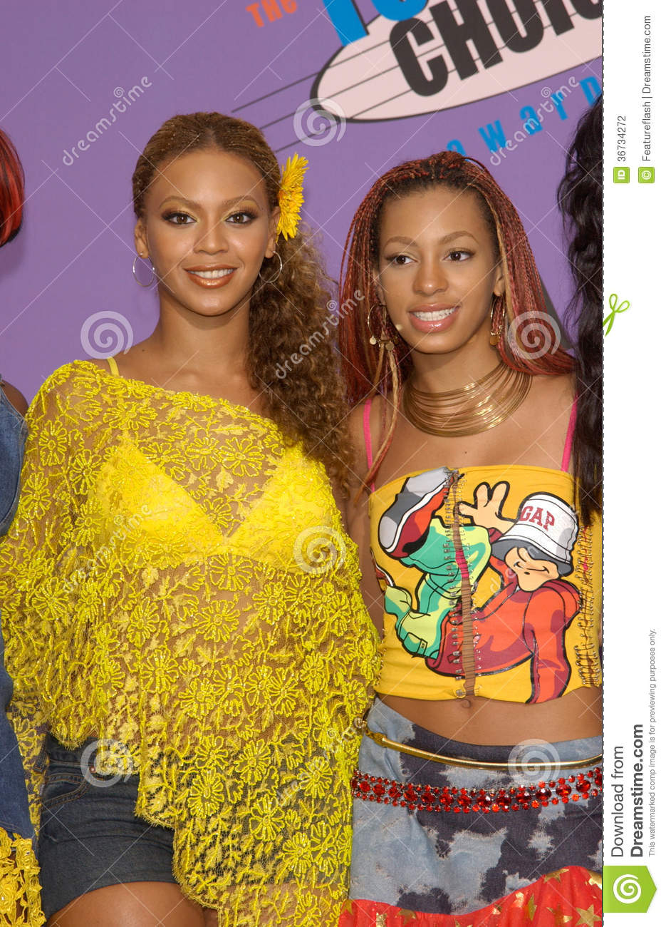 Beyonce And Solange As Kids