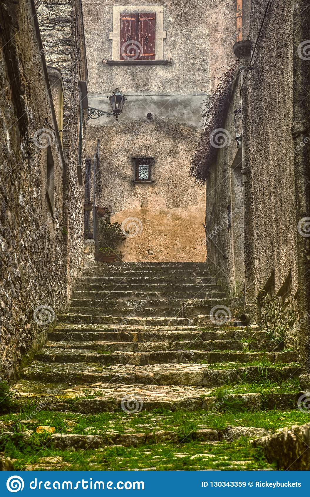 Beyond The Clearing Mist Lay The Medieval Steps of Erice