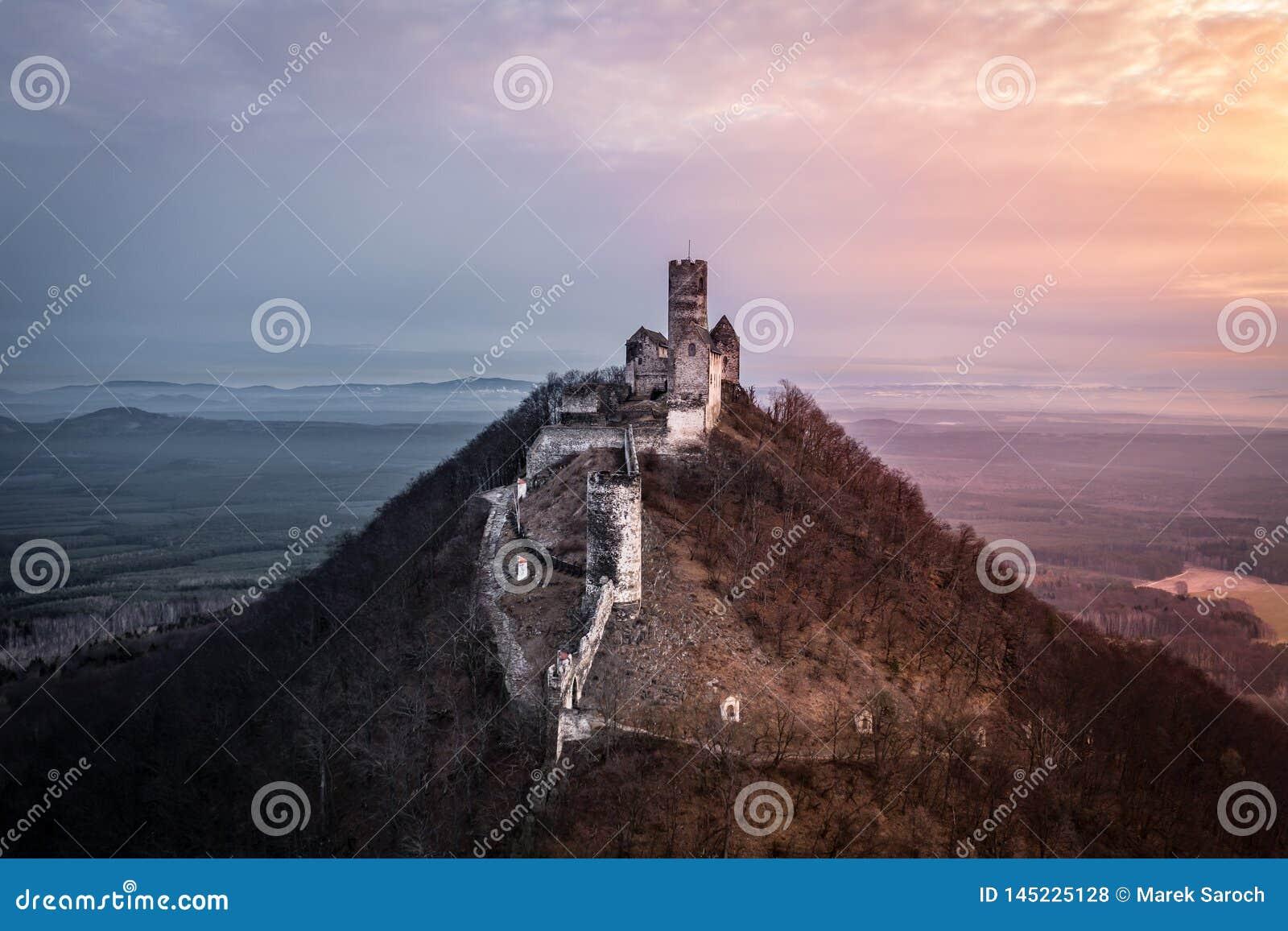 城堡Bezdez在捷克