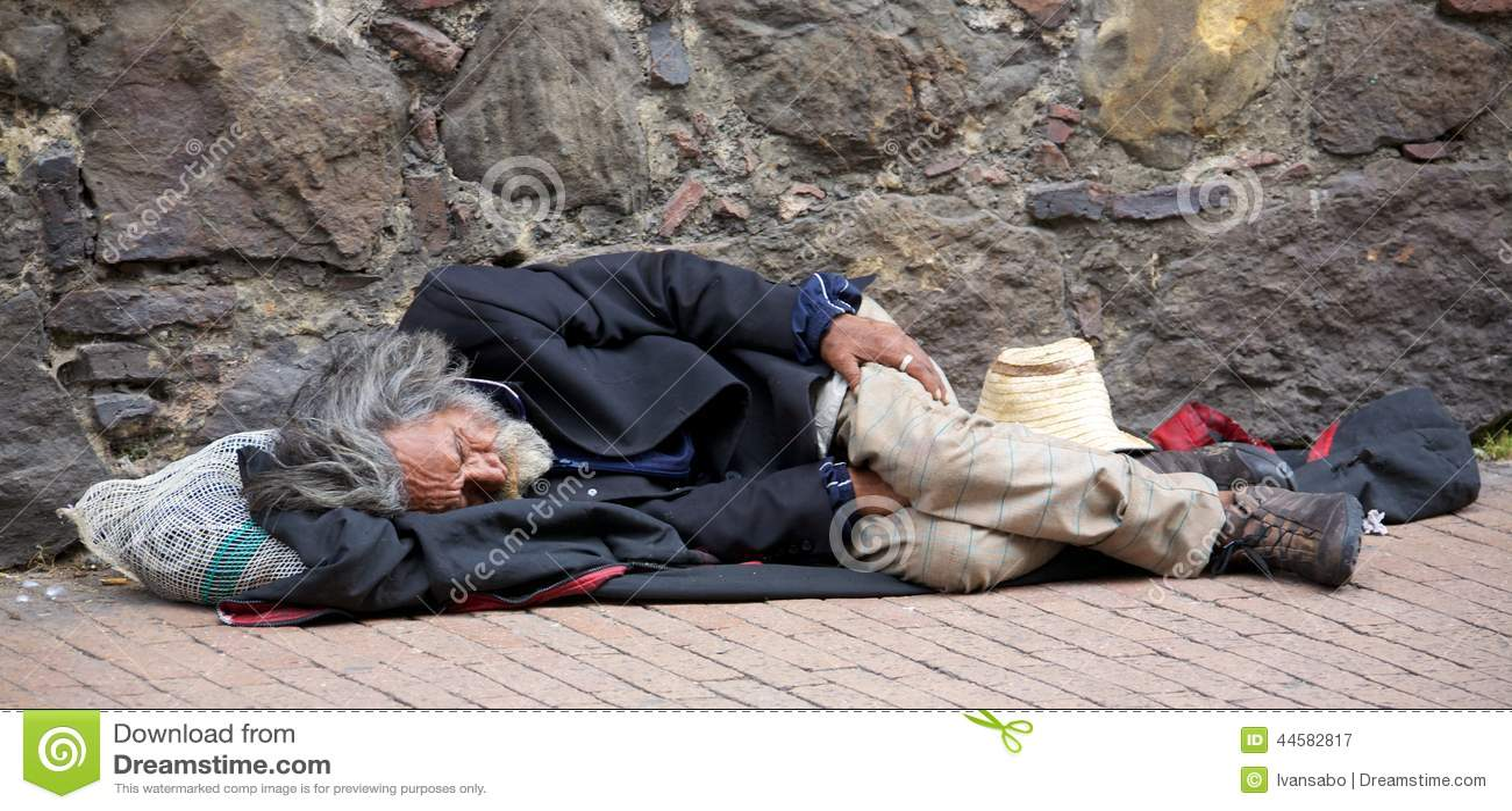Bezdomny w Bogota