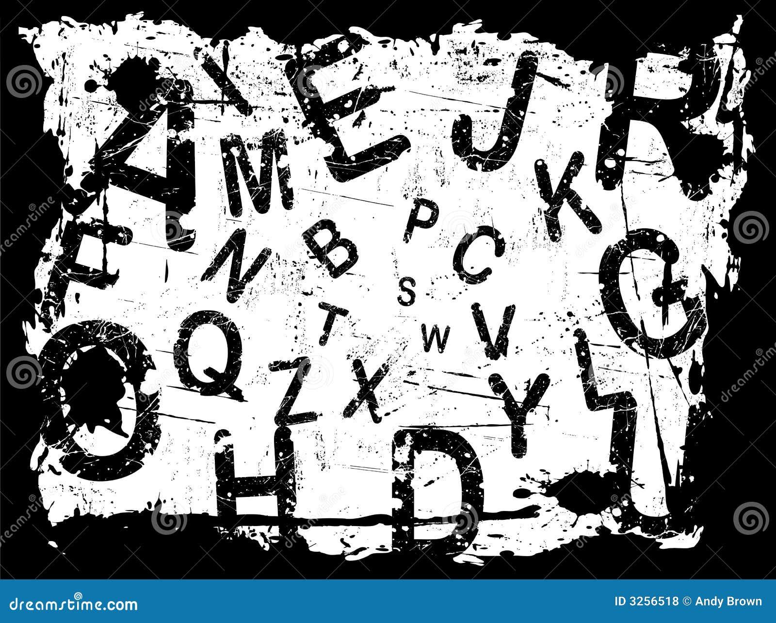 Bezeichnen Sie Grunge Hintergrund 1 mit Buchstaben