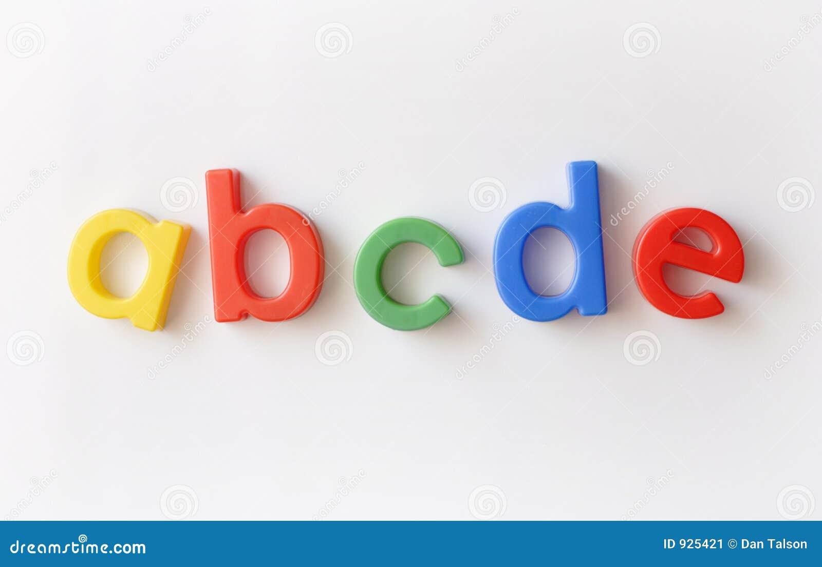 Bezeichnen Sie Kühlraummagneten mit Buchstaben