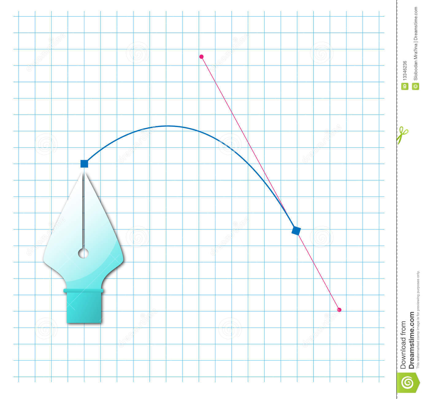 Bezier curve stock illustration  Illustration of gradient - 13346236