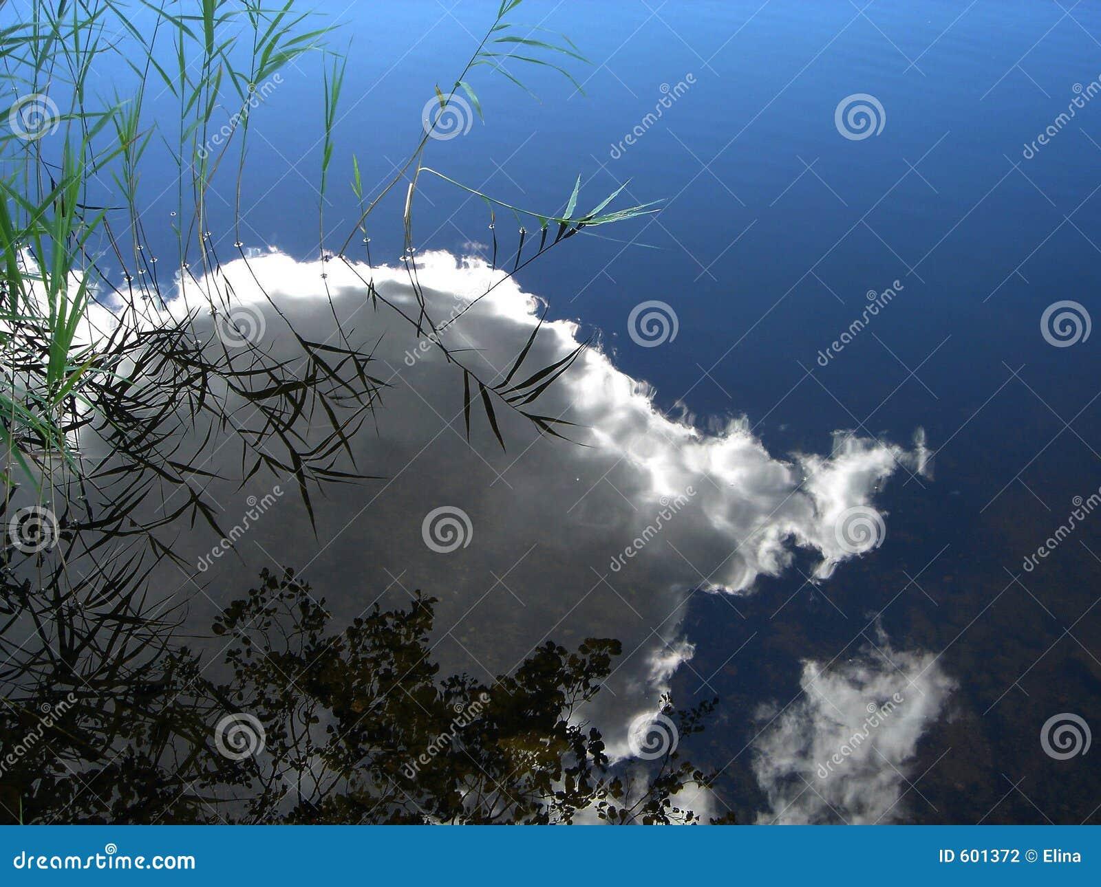 Bezinning van een wolk in water