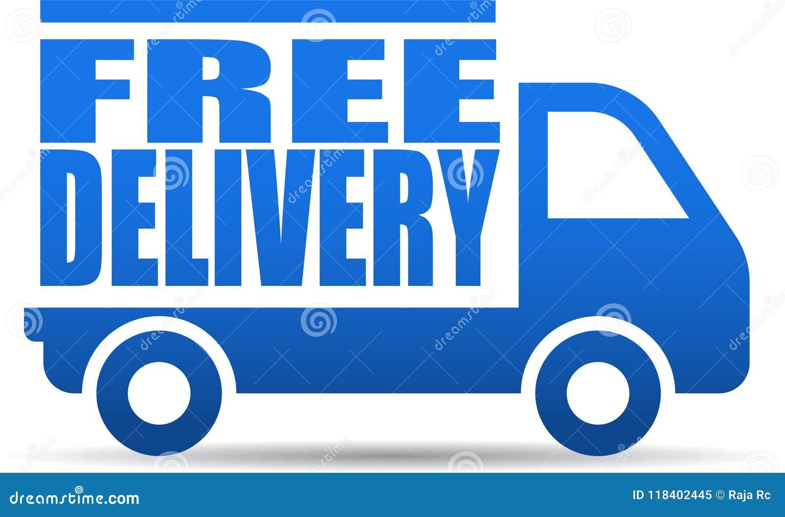 Bezpłatna doręczeniowej ciężarówki ilustracja