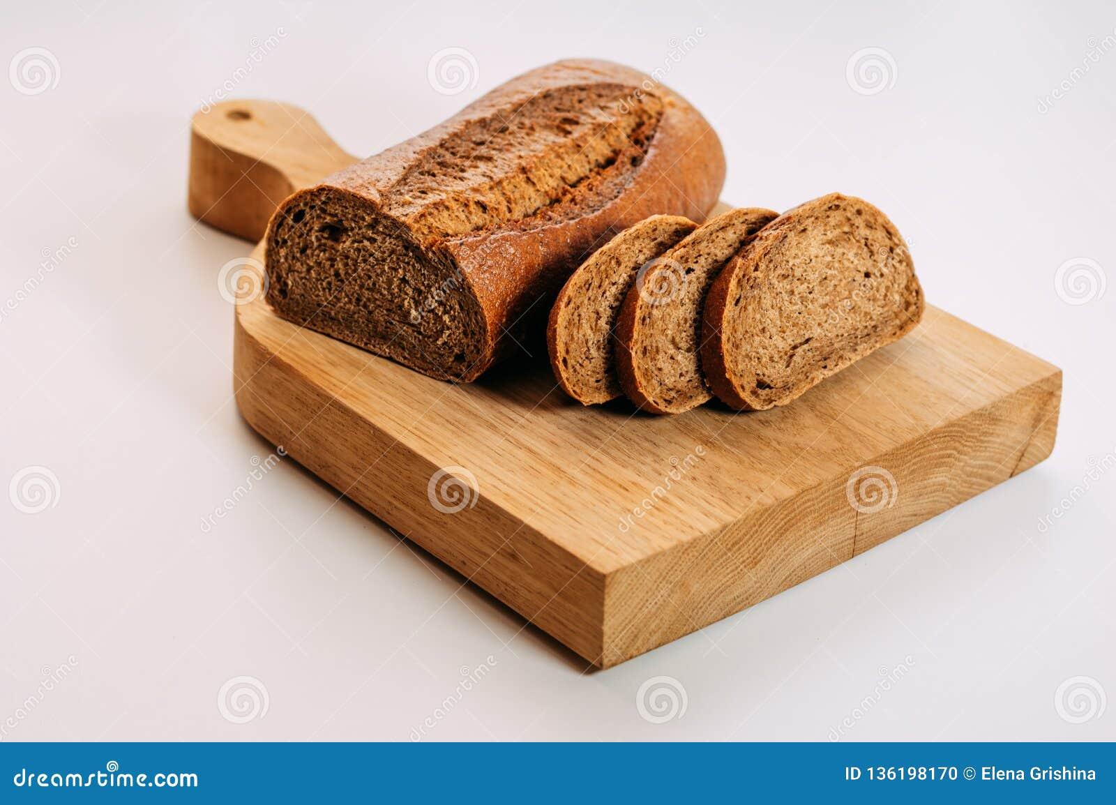 Bezpłatny cały zbożowy żyto chleb pokrajać Glutenu bezpłatny domowej roboty chleb zdrowa żywność