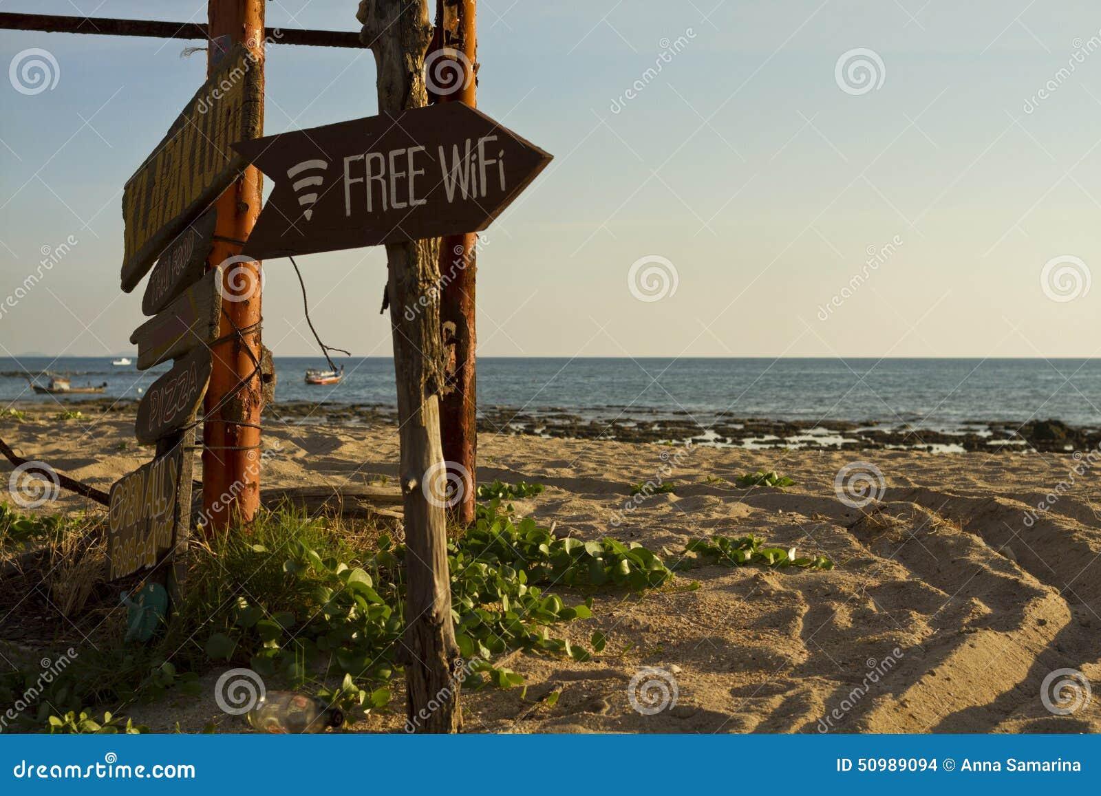 Bezpłatny wifi na plaży
