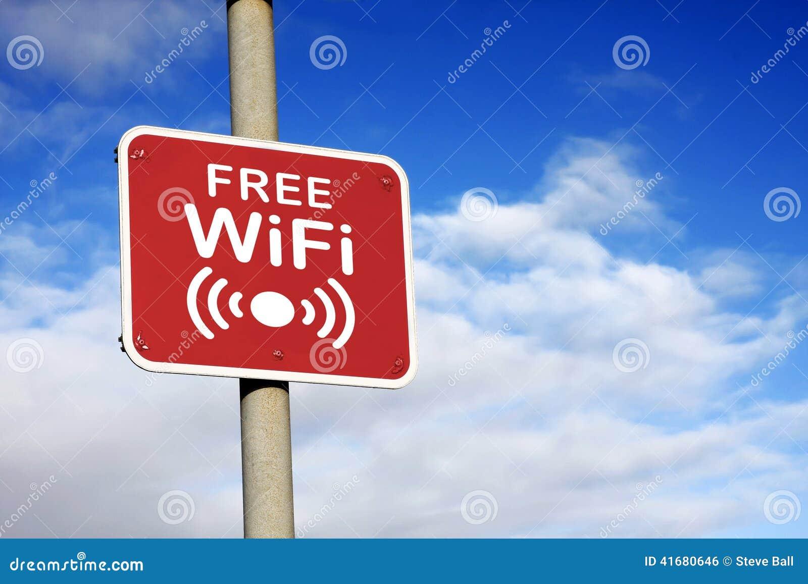 Bezpłatny Wifi znak