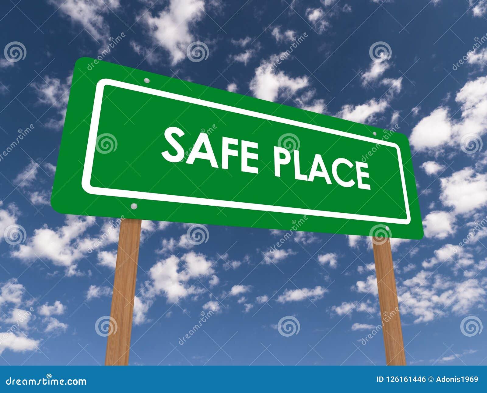 Bezpieczne Miejsce znak
