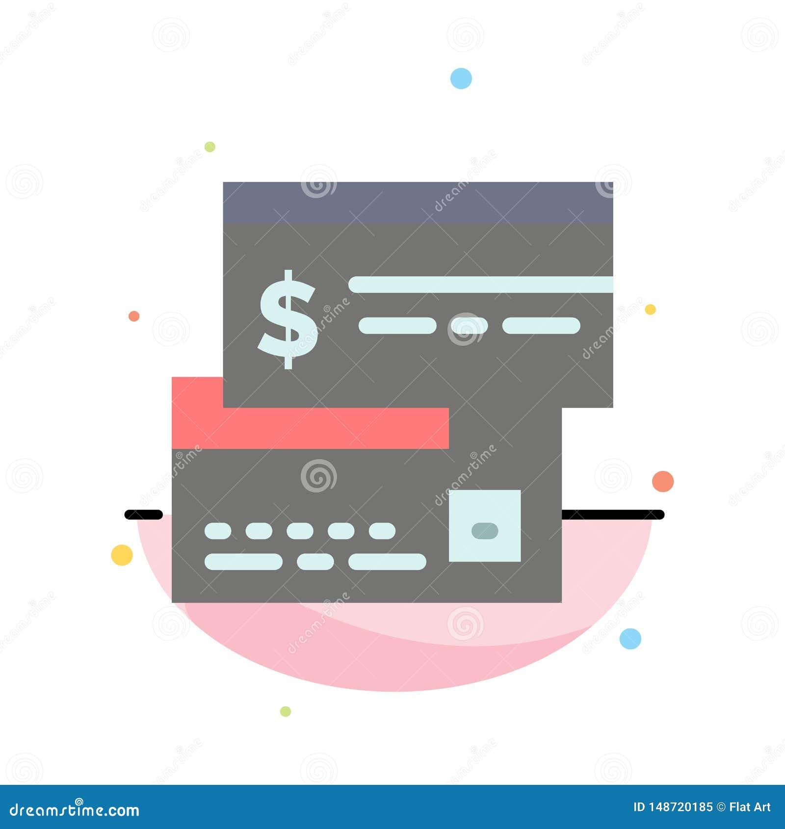 Bezpośrednia zapłata, karta, kredyt, debet, Bezpośredni Abstrakcjonistyczny Płaski kolor ikony szablon