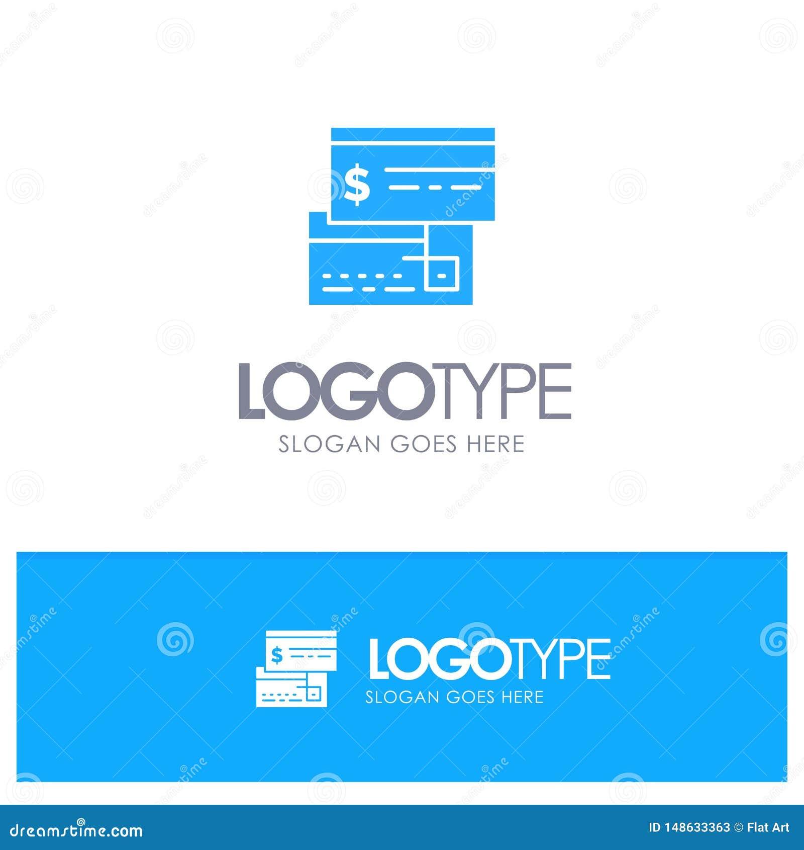Bezpośrednia zapłata, karta, kredyt, debet, Bezpośredni Błękitny Stały logo z miejscem dla tagline