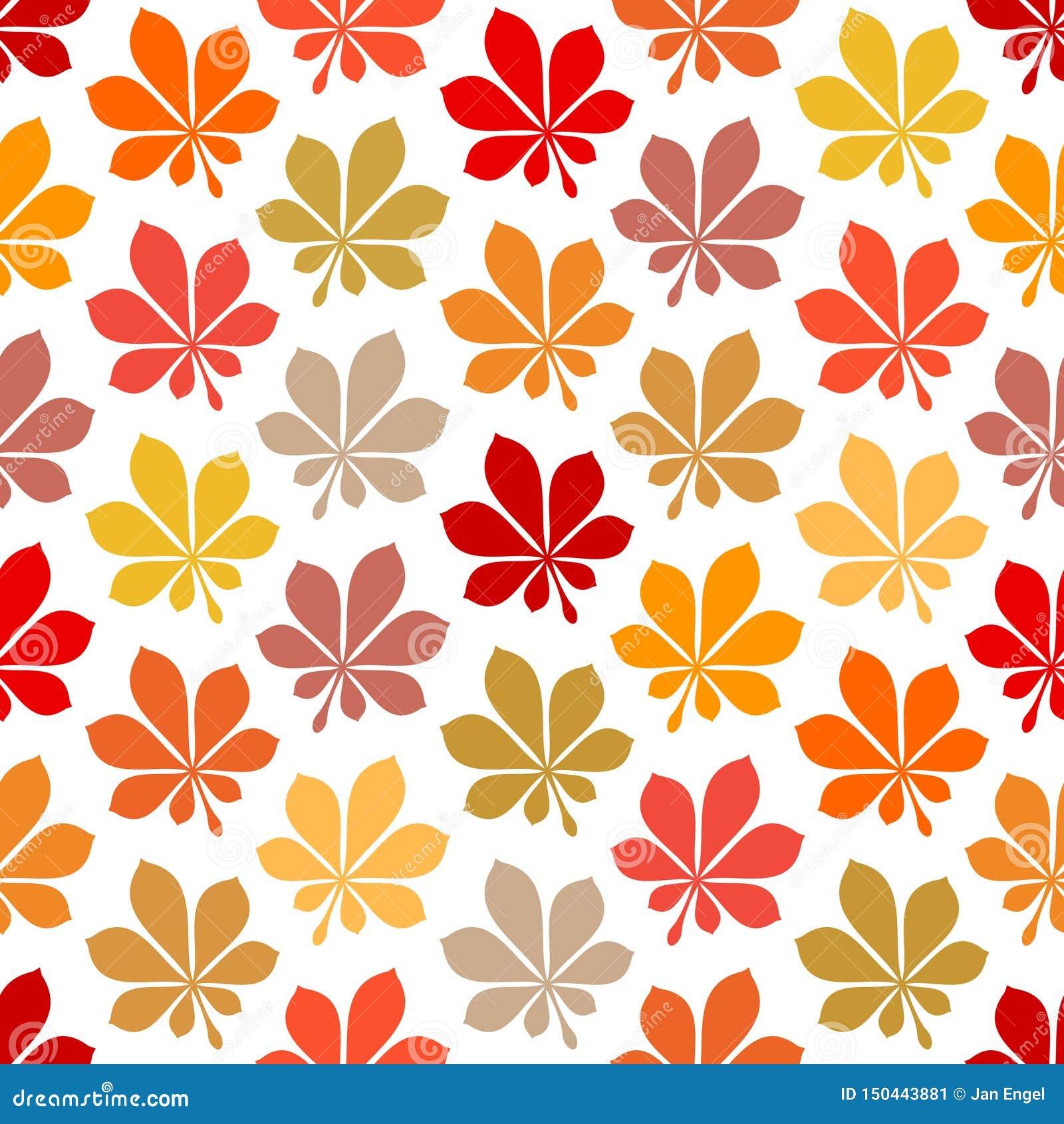 Bezszwowa Deseniowa jesień liści Żółtego Brown rewolucjonistki pomarańcze