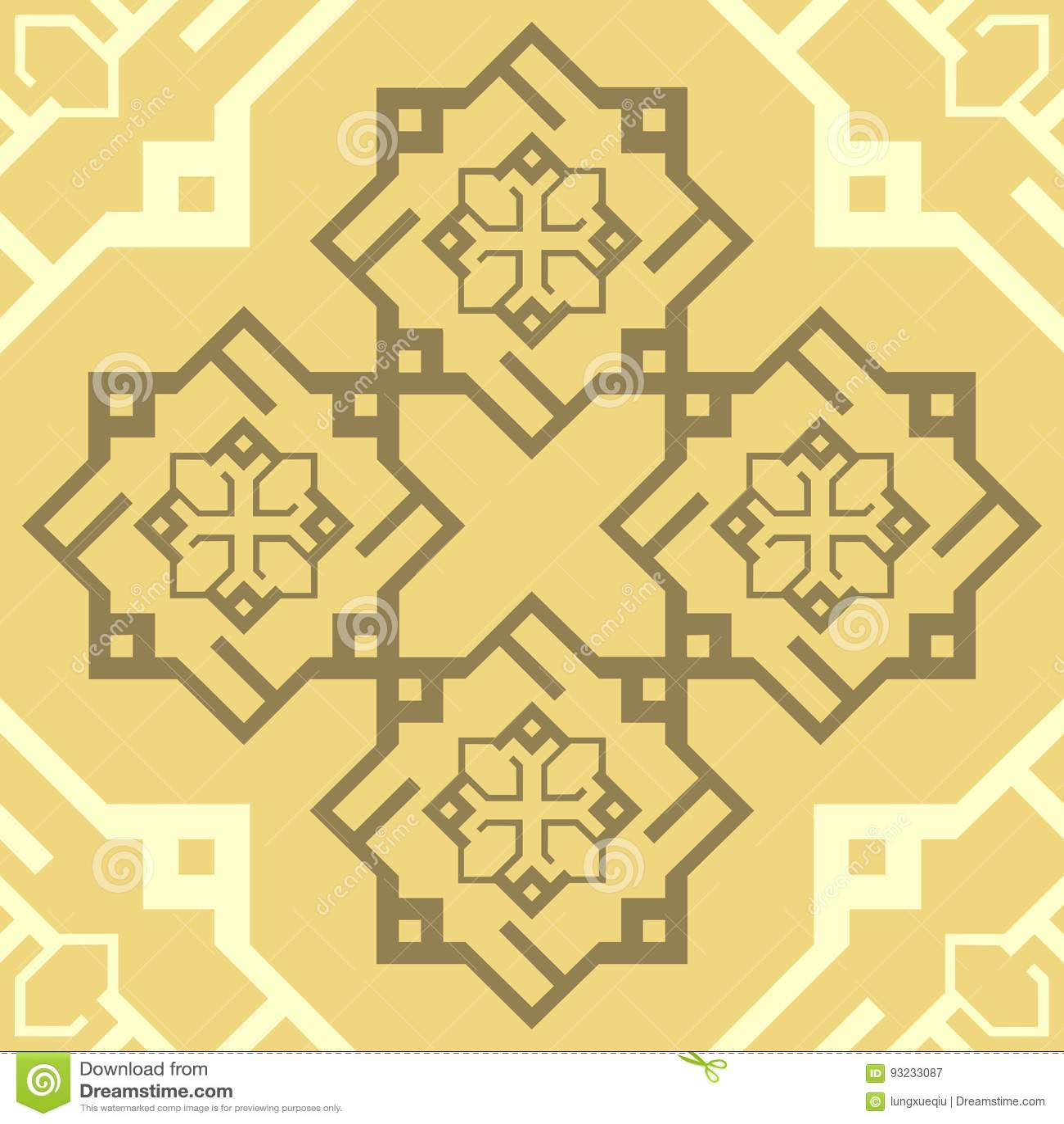 Bezszwowego ornamentu Cappuccino Brown wzoru płytki tekstury wektoru Kawowy Powtórkowy tło