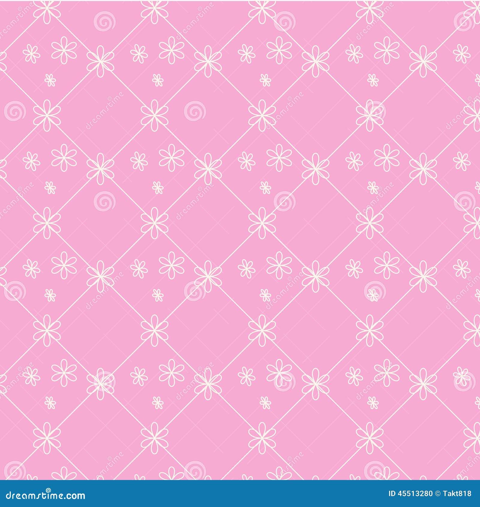 Bezszwowego wektoru wzoru kwiecisty różowy tło