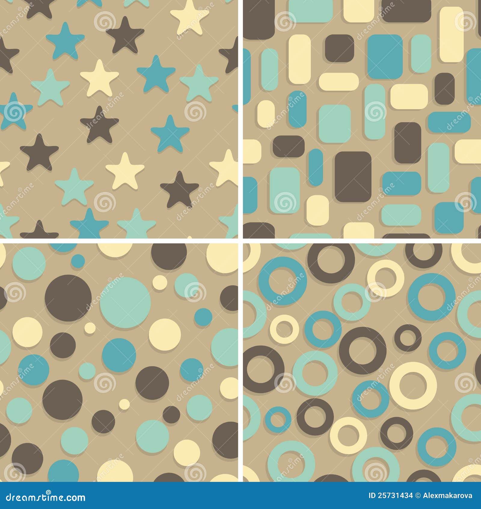 Bezszwowi abstraktów wzory cztery