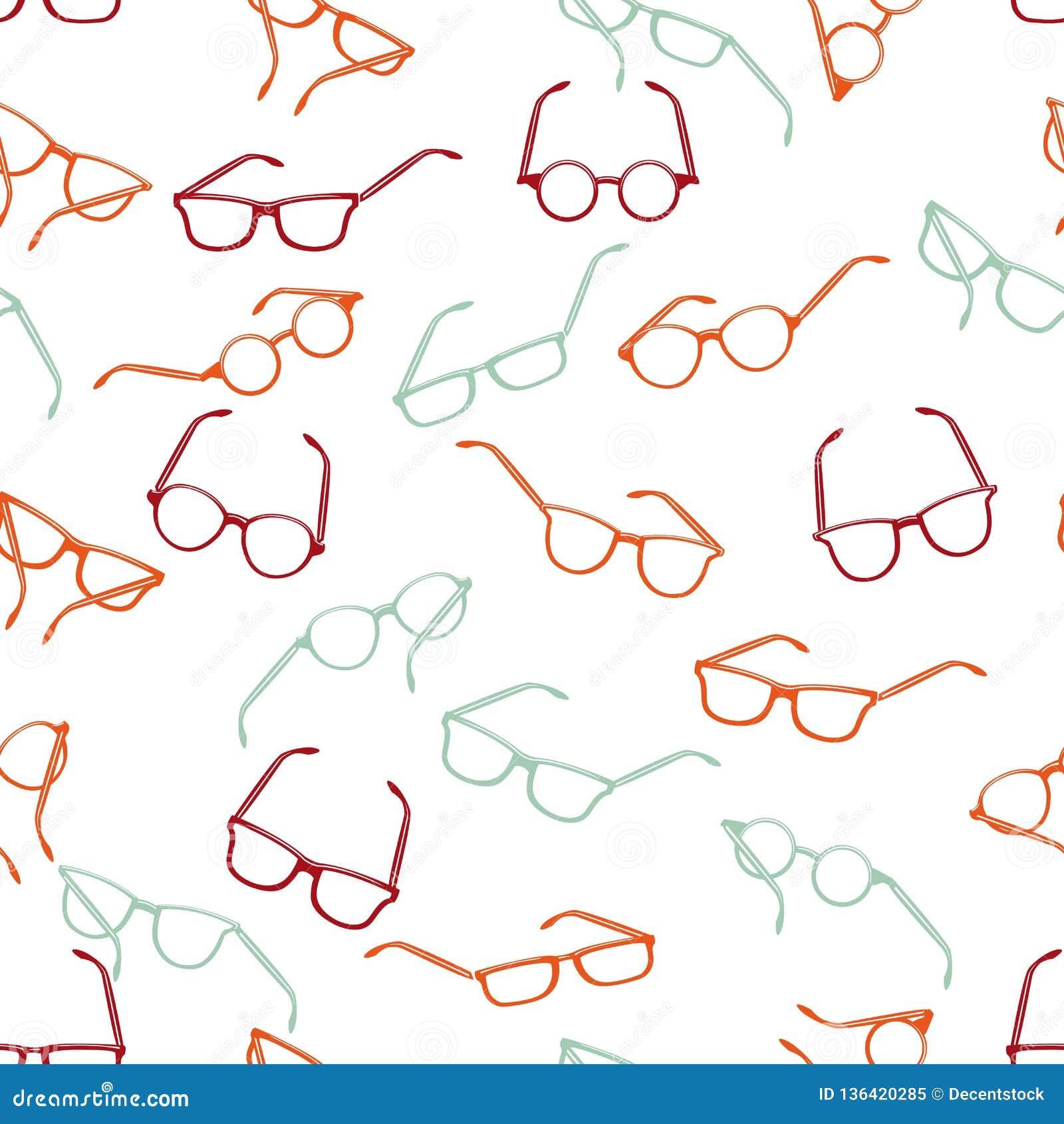Bezszwowi retro okulary przeciwsłoneczni na białym tle