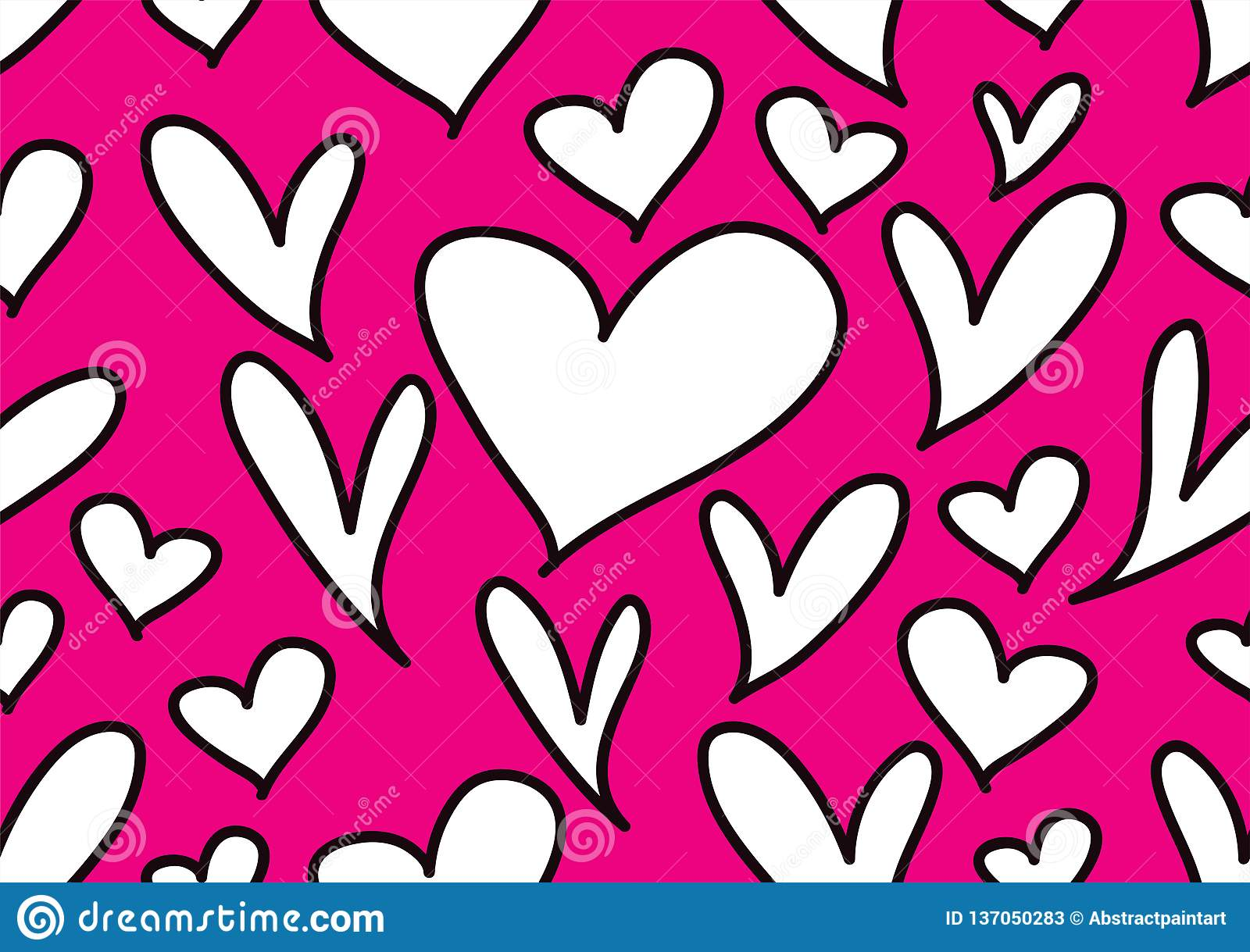 Bezszwowi wzory z czarnymi sercami, miłości tło, kierowy kształta wektor, valentines dzień, tekstura, płótno, ślub, papier