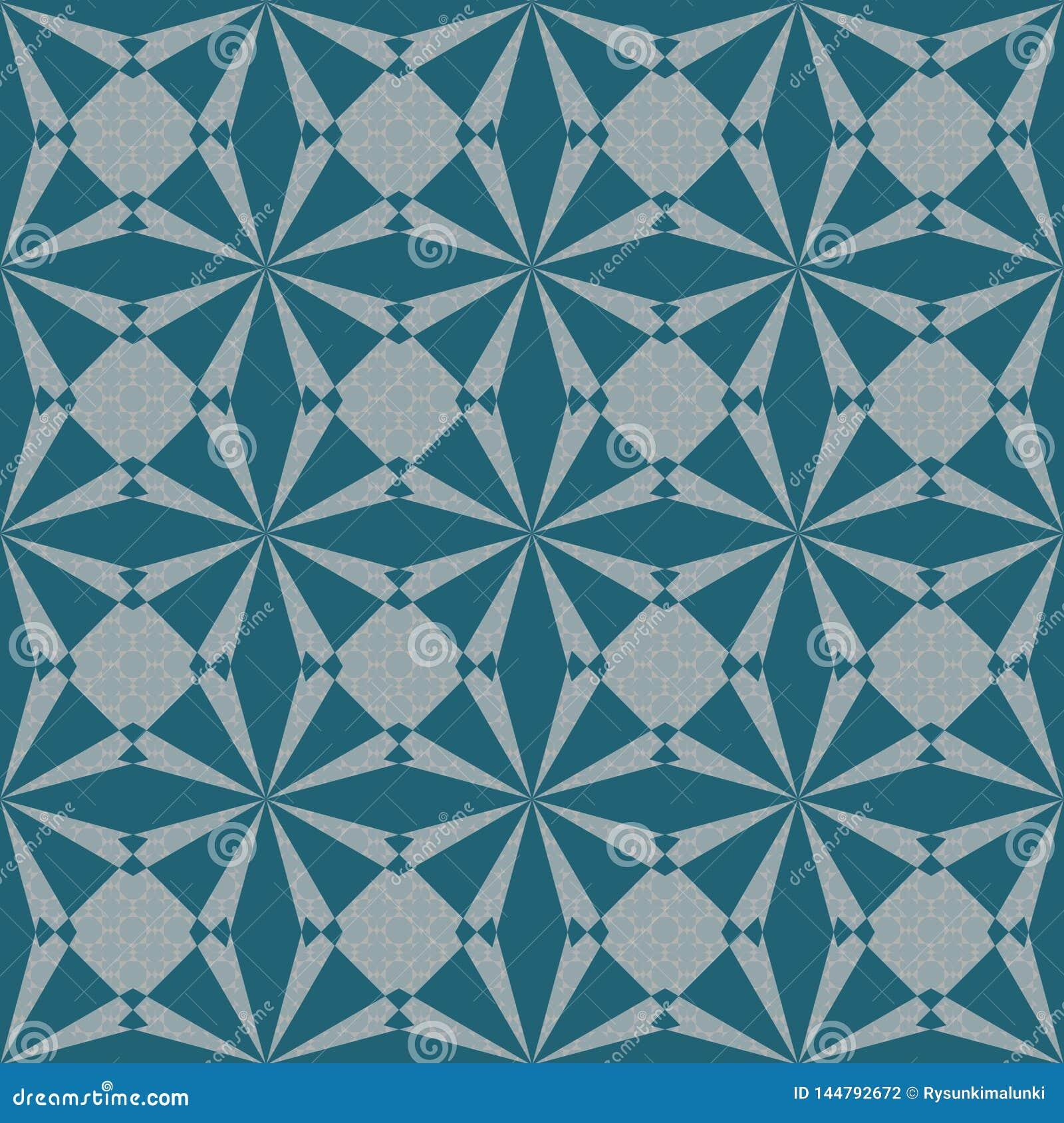 Bezszwowy abstrakcjonistyczny geometryczny wektoru wzór w cyraneczka kolorze