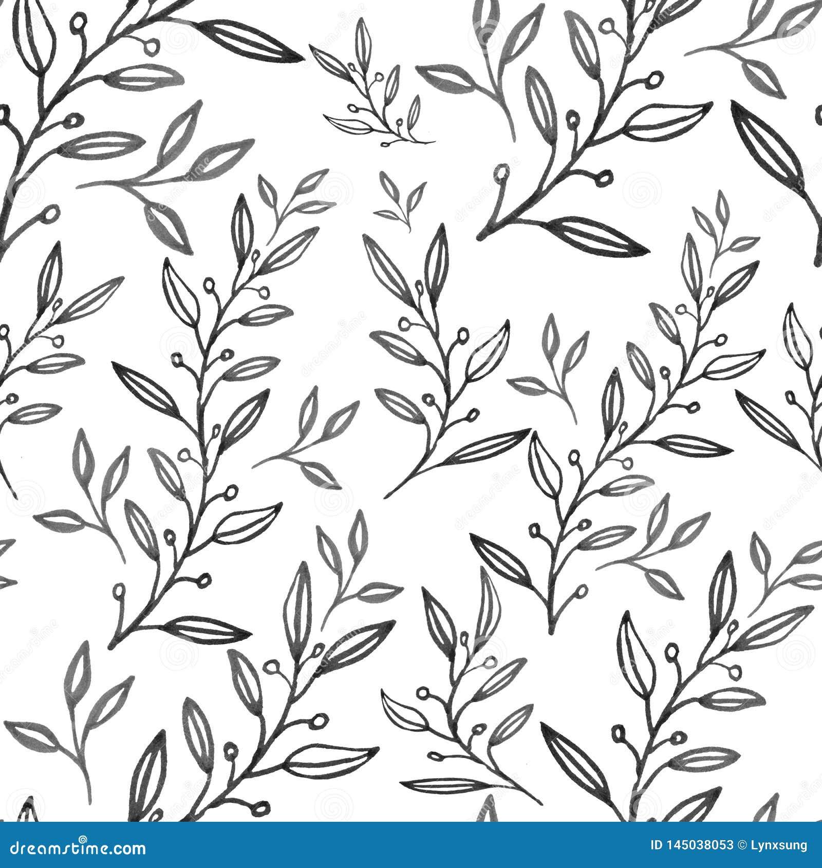 Bezszwowy abstrakcjonistyczny kwiecisty wzór, ręka rysująca ilustracja może używać dla tekstylnego druku lub tła, tapeta,