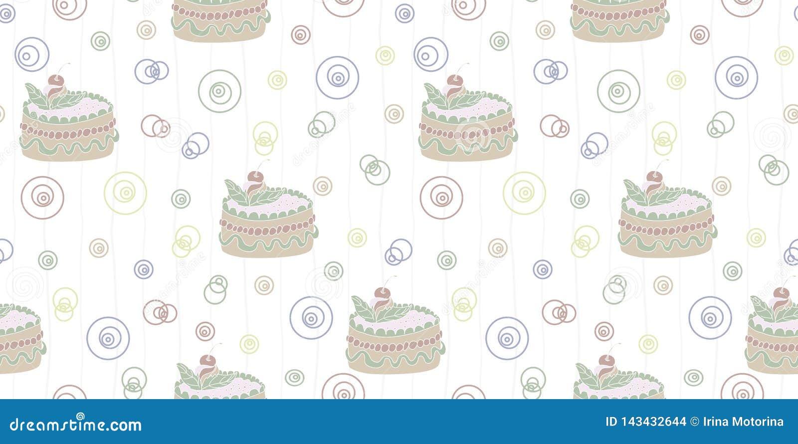 Bezszwowy abstrakta wzór z tortem