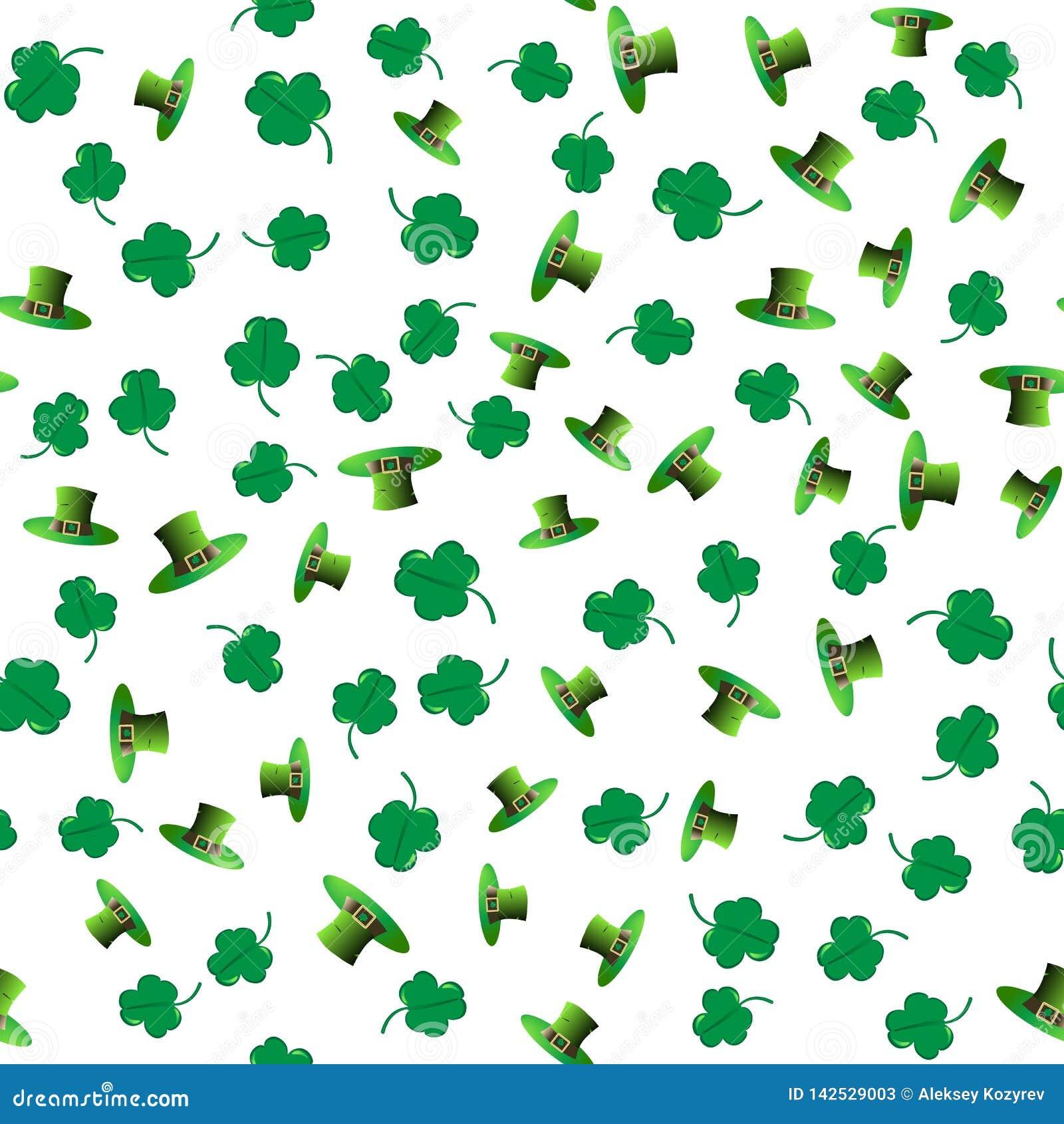 Bezszwowy deseniowy dzień Patrick