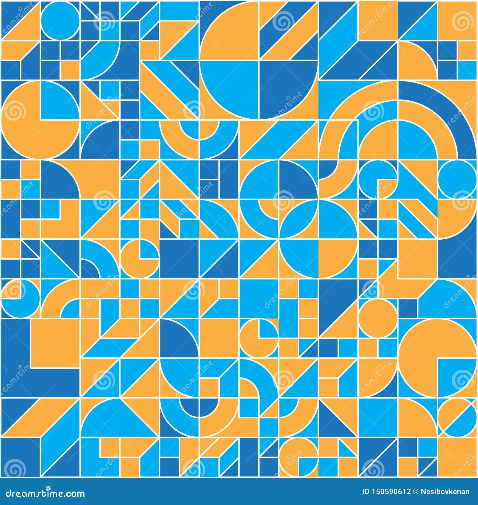 Bezszwowy geometryczny kolorowy mieszkanie wzór