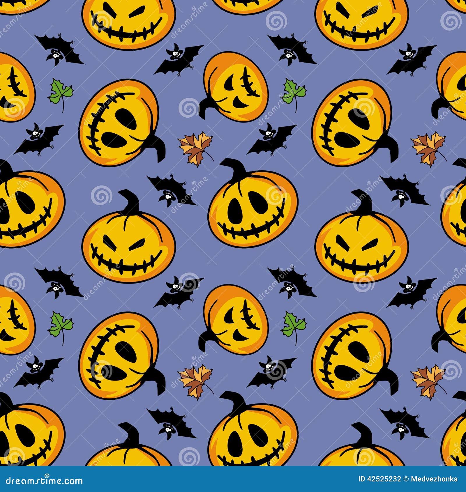 Bezszwowy halloween wzoru