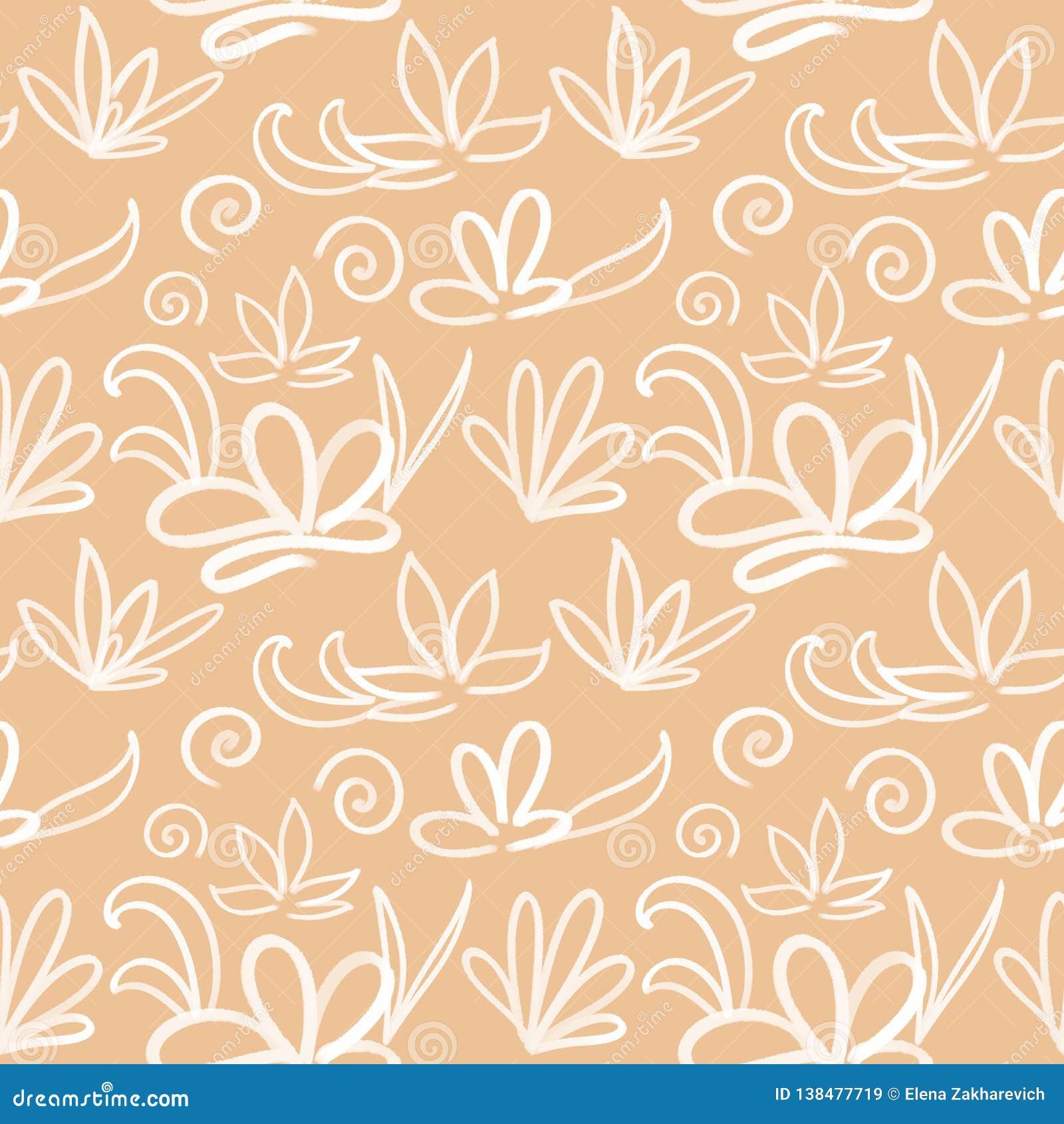 Bezszwowy japończyka wzór na pastelowym brzoskwini tle