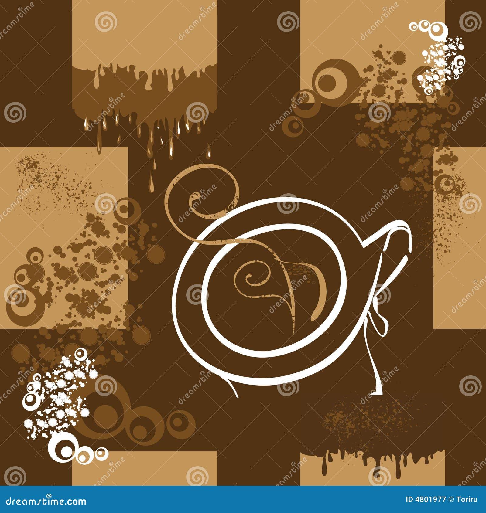 Bezszwowy kawy wzoru