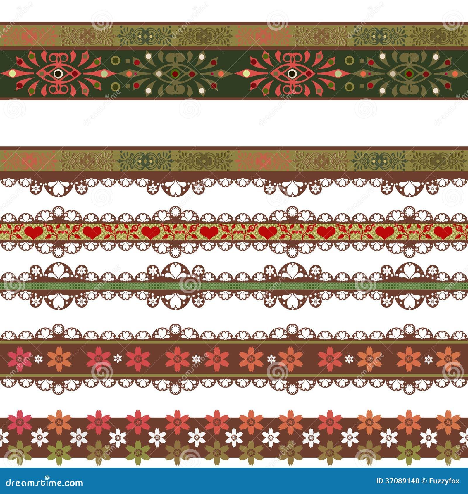 Download Bezszwowy Koronkowy Koronkowy Washi Taśm Wzór Na Białym Tle Ilustracji - Ilustracja złożonej z kolorowy, odziewa: 37089140