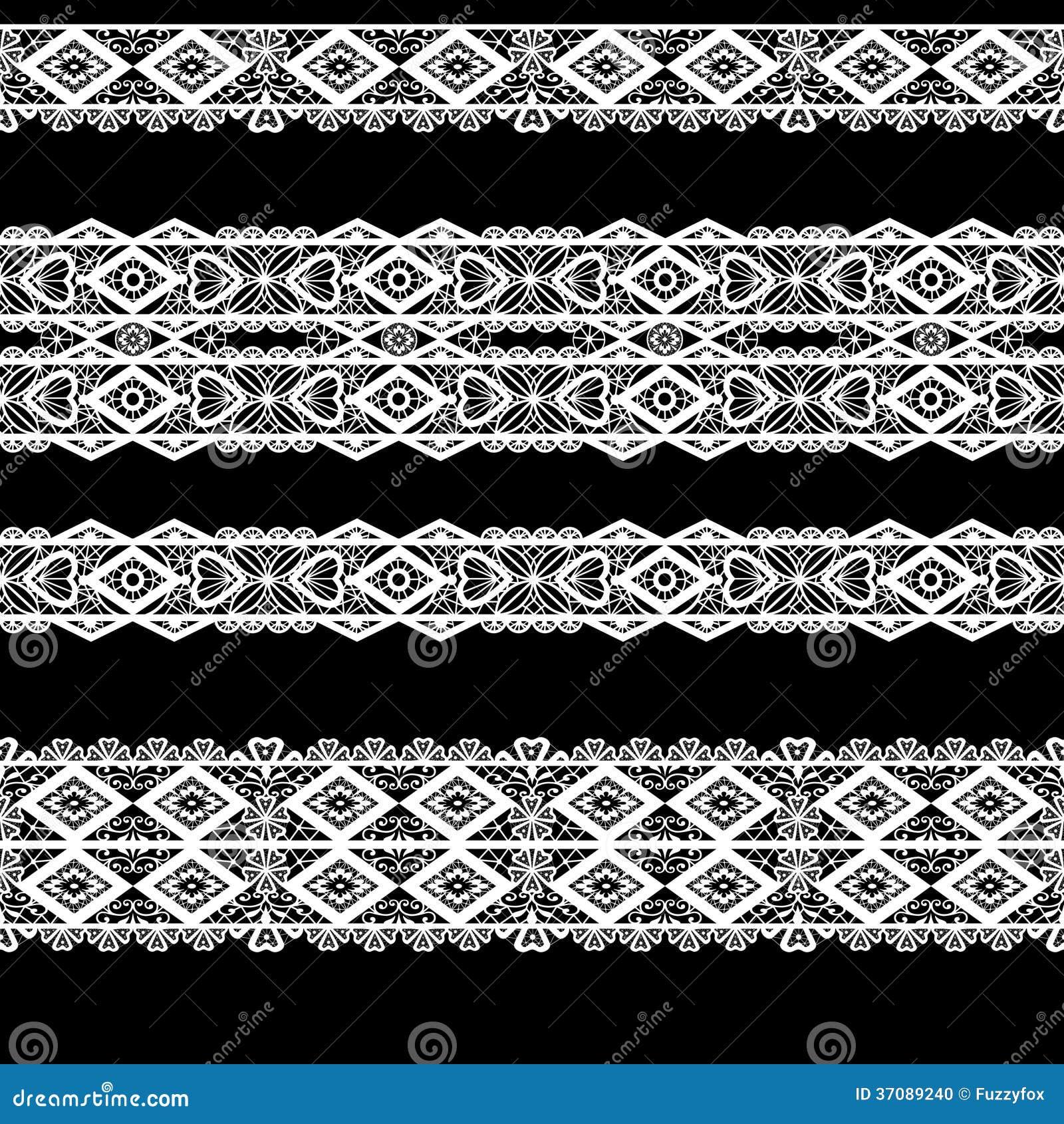 Download Bezszwowy Koronkowy Koronkowy Washi Taśm Wzór Na Czarnym Tle Ilustracji - Ilustracja złożonej z odziewa, ornamental: 37089240