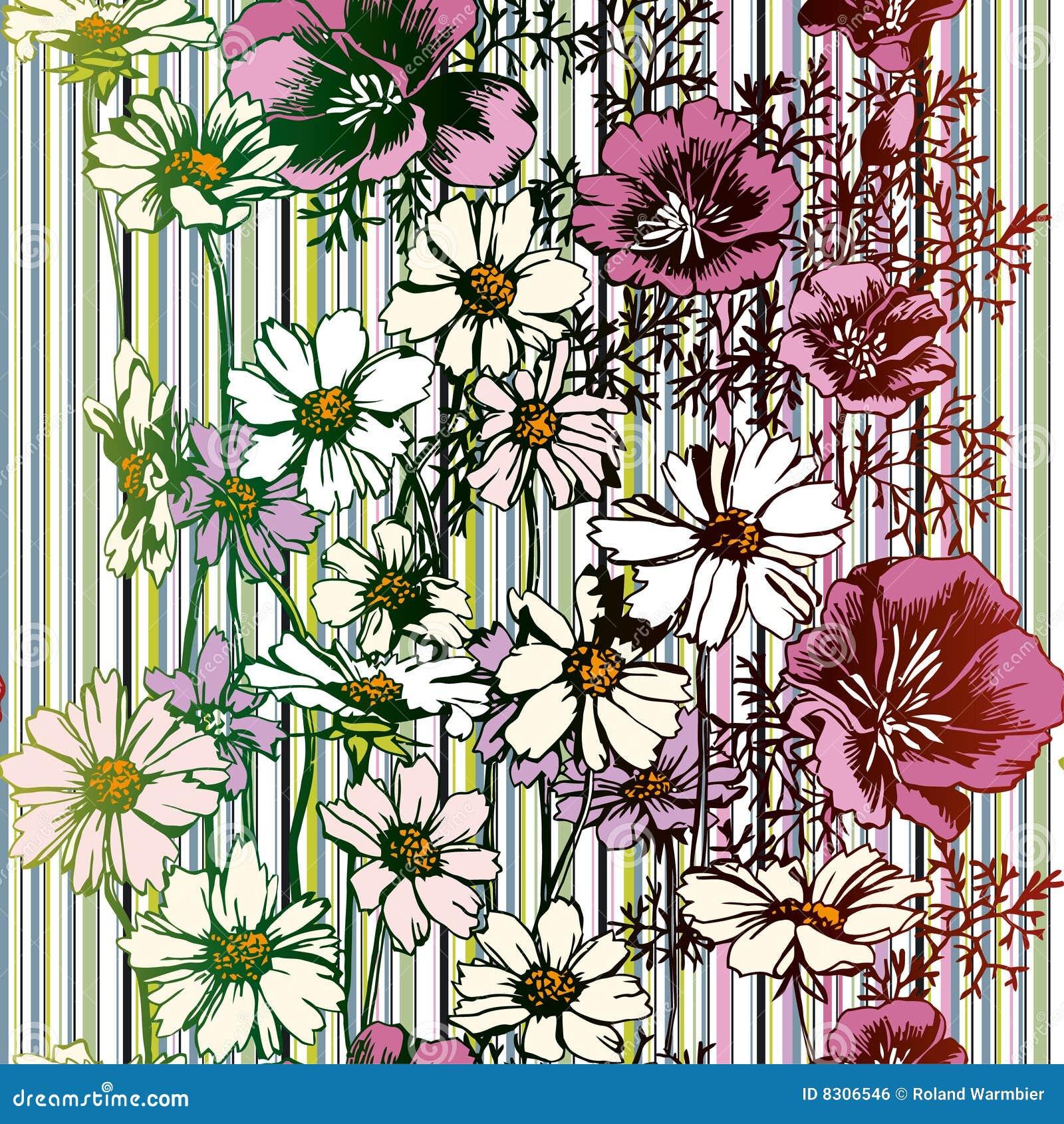 Bezszwowy kwiatu wzór