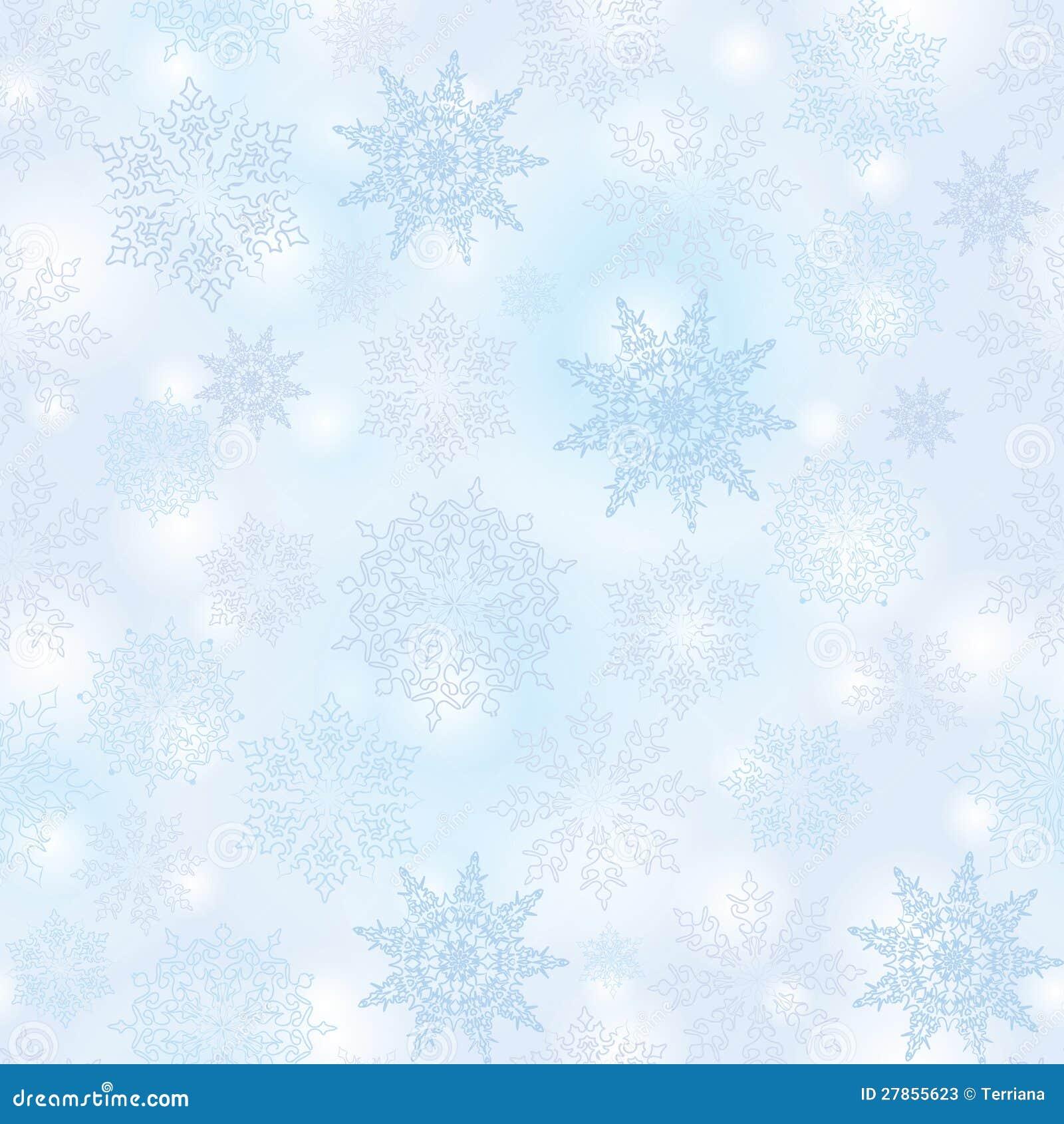 Bezszwowy płatka śniegu wzór