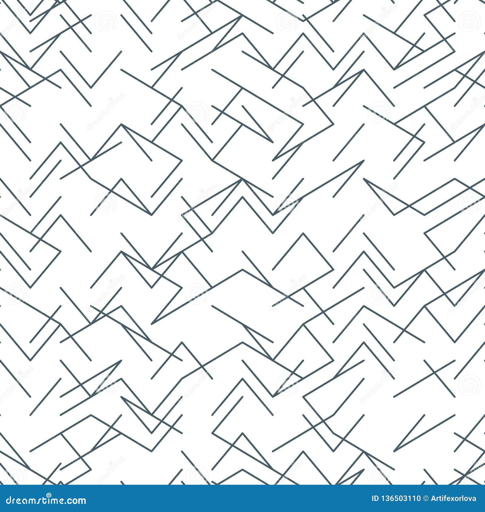 Bezszwowy przypadkowy, zirytowany, nieregularny kreskowy czarny i biały wzór, 10 eps