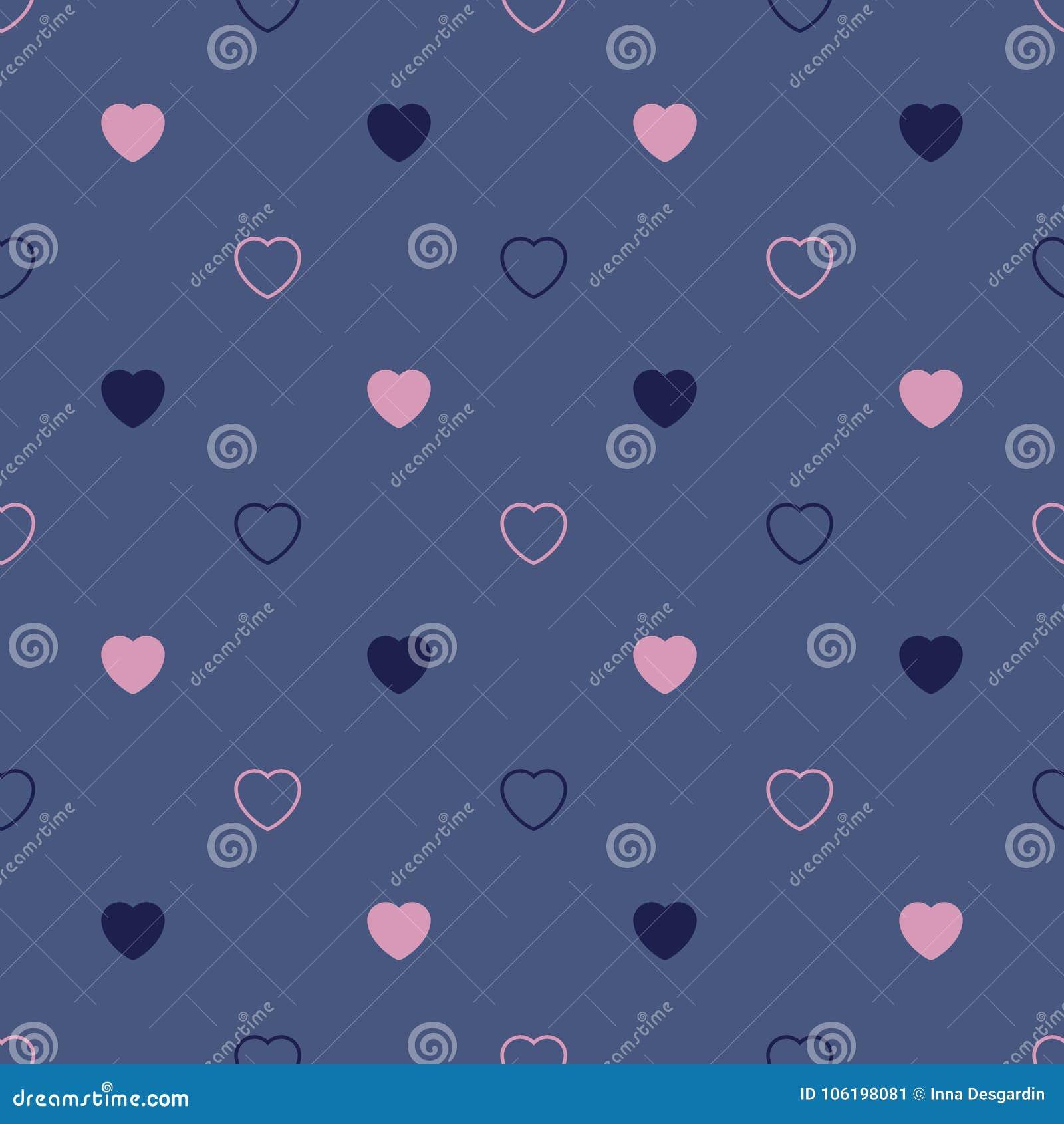 Bezszwowy serce abstrakcjonistyczny wzór Valetines dzień, urodziny o