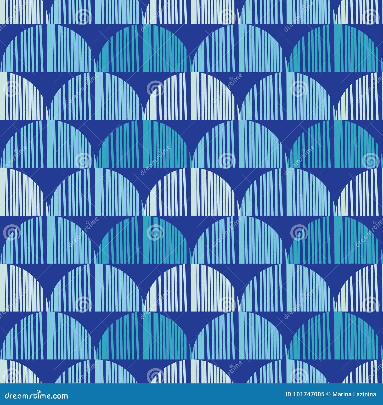 Bezszwowy tło z abstrakcjonistycznym geometrycznym wzorem Abstrakcjonistyczna cyfrowa usterki grafika
