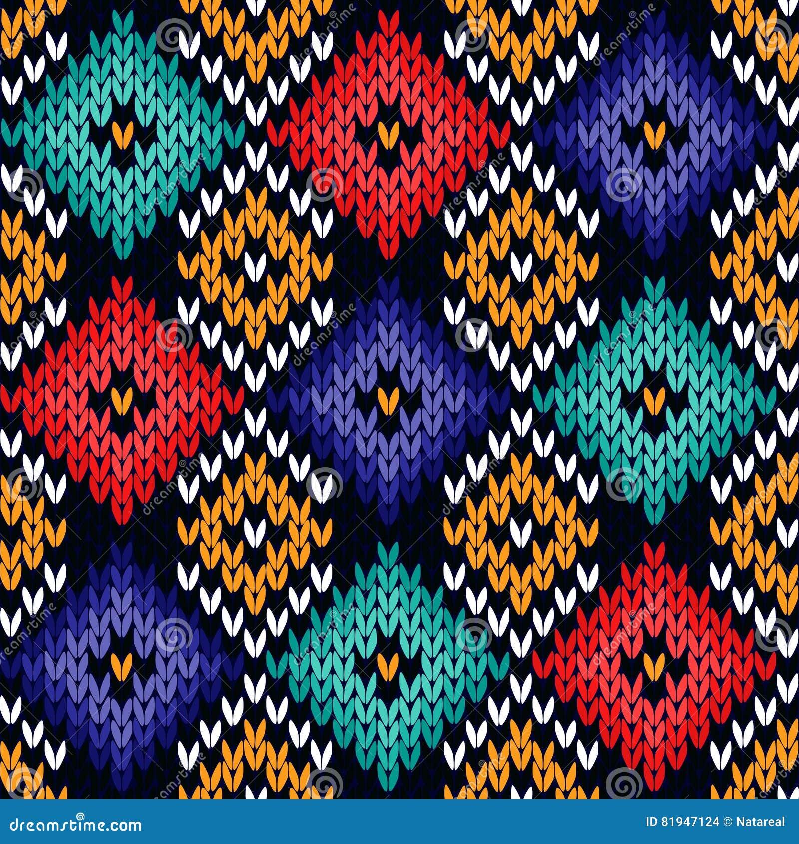 Bezszwowy trykotowy kolorowy wzór