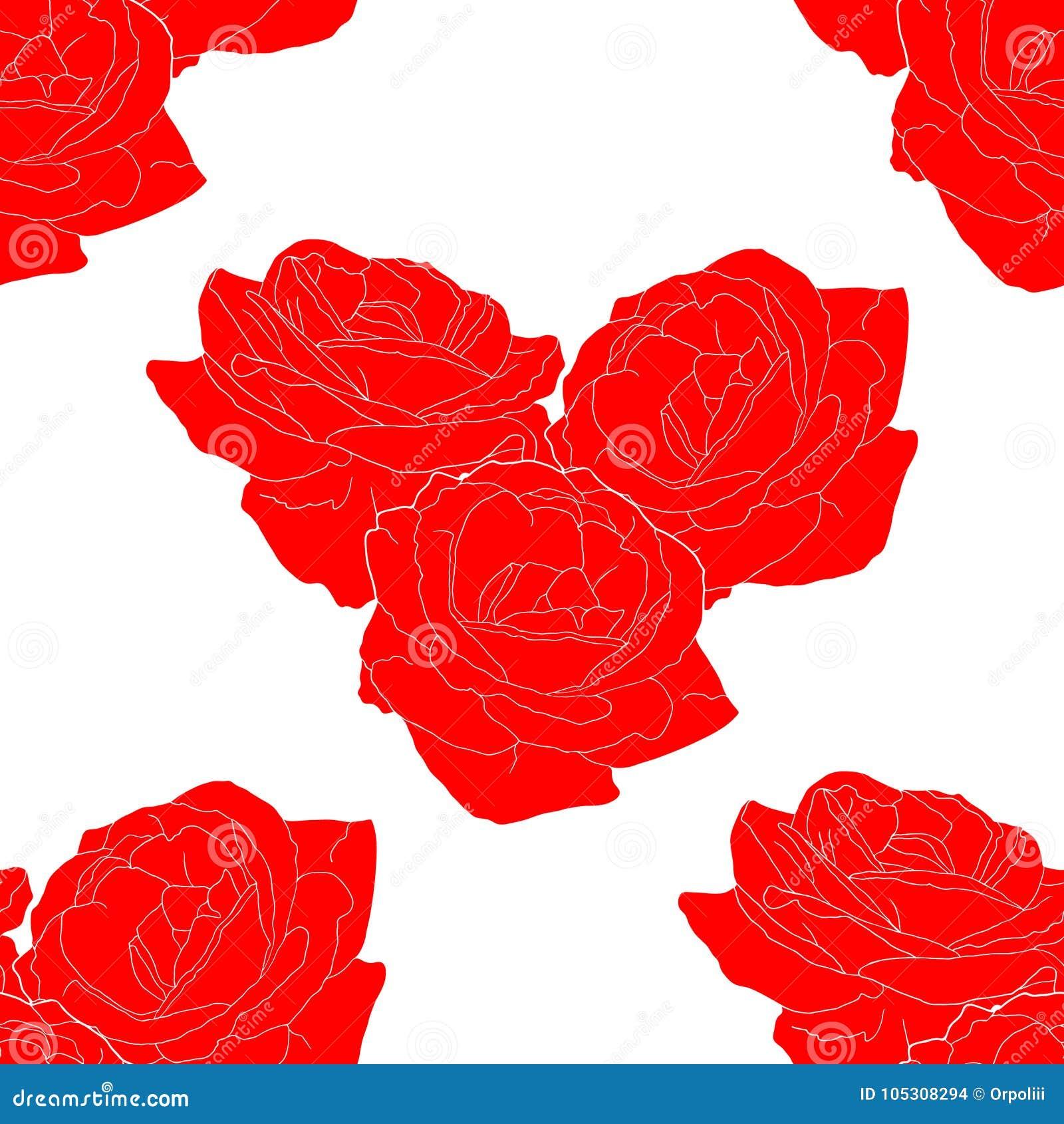 Bezszwowy wzór kwiat róży forma kierowy wektor