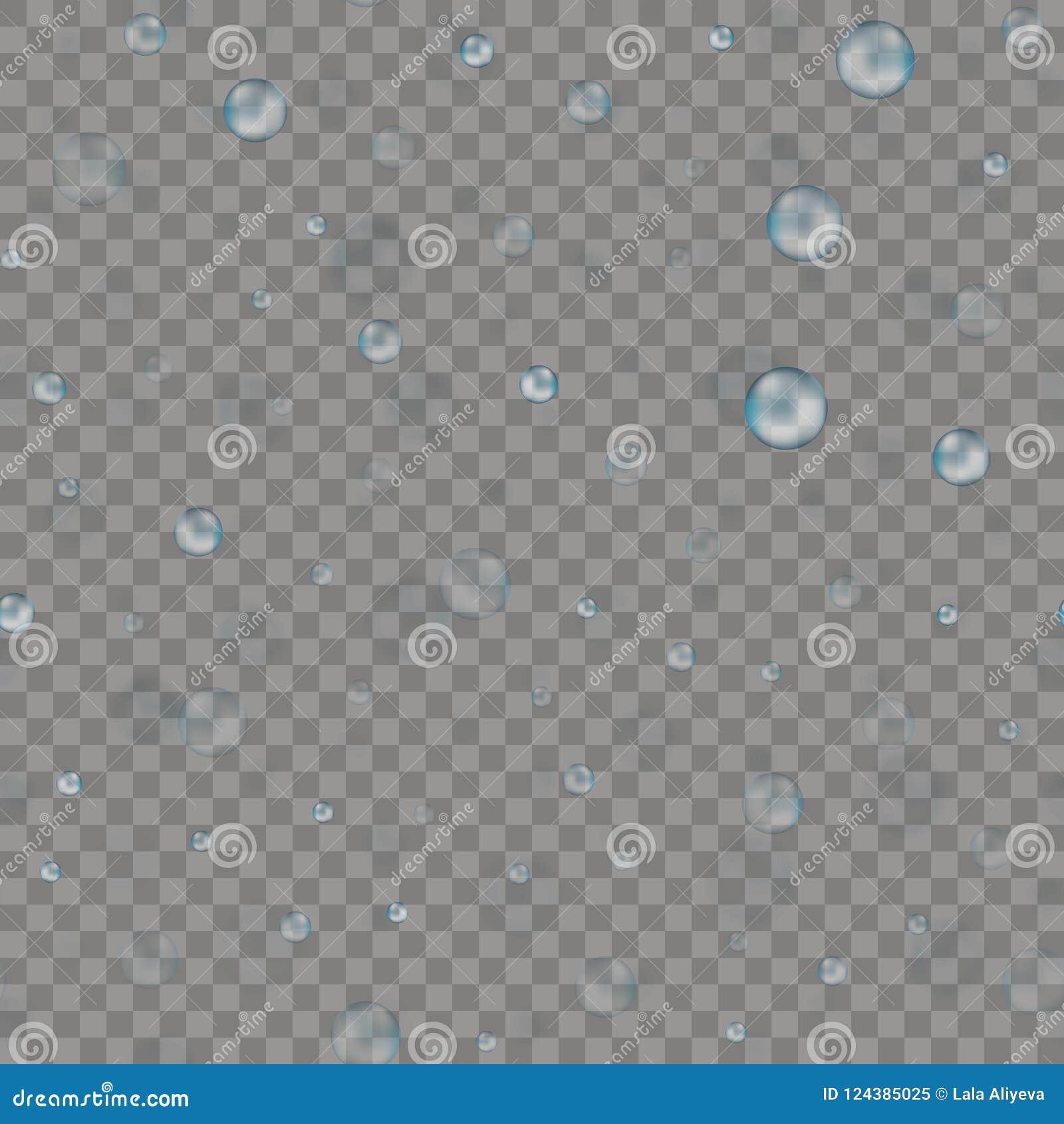 Bezszwowy wzór z błękita deszczu kroplami wektor