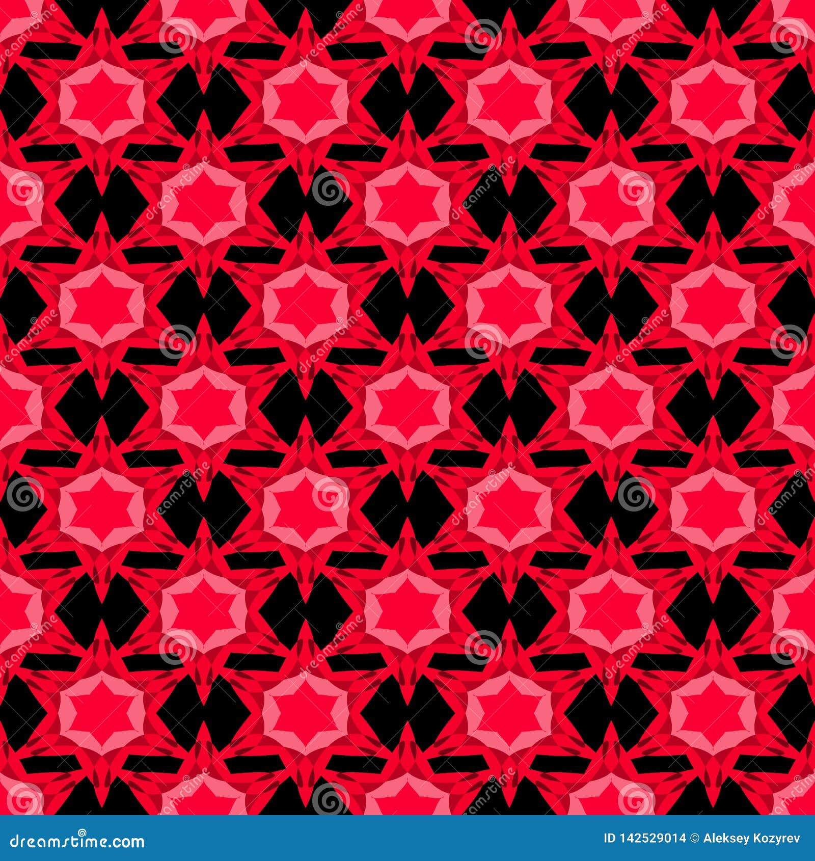Bezszwowy wzór z czerwonymi gwiazdami