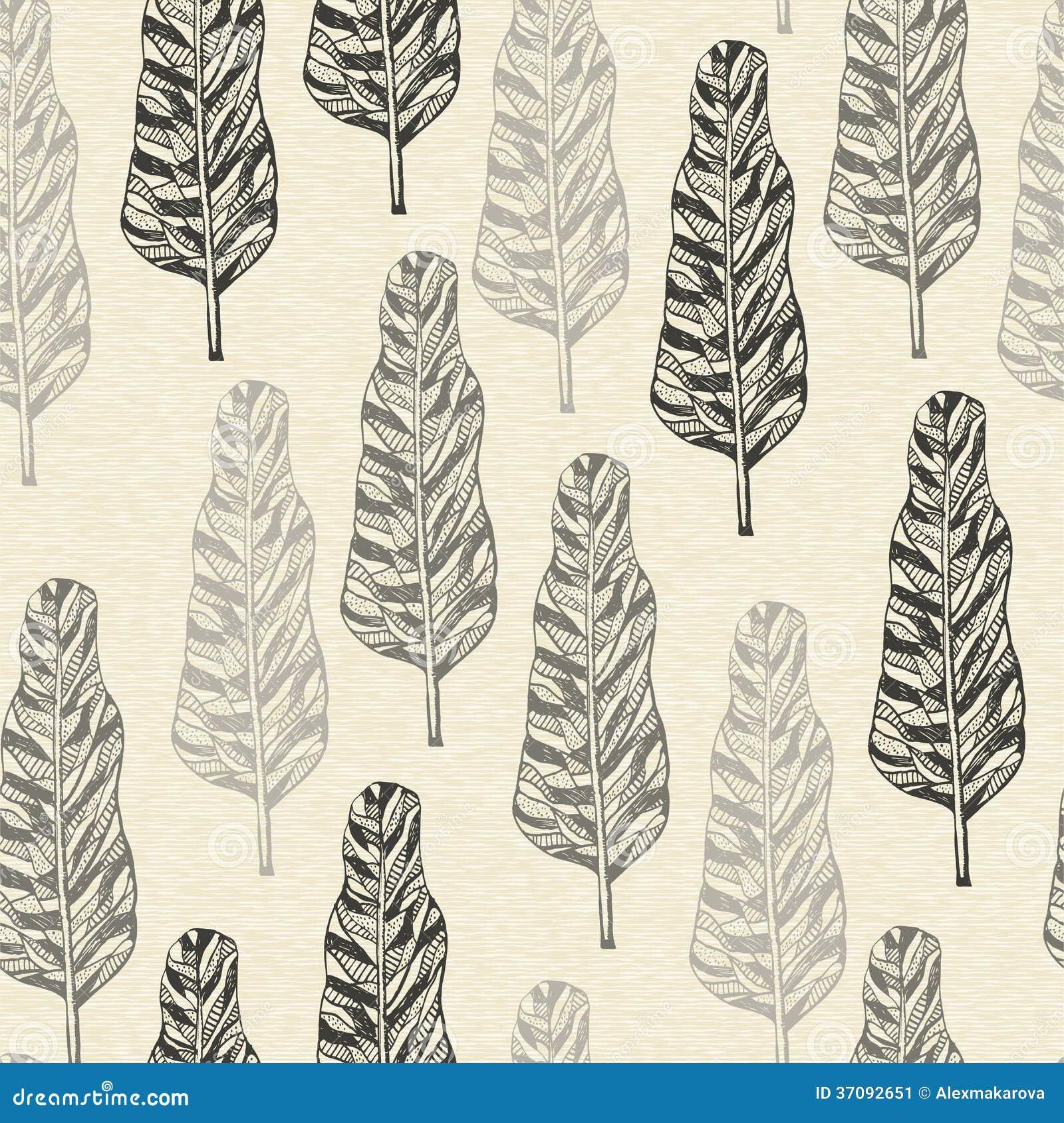 Download Bezszwowy wzór z drzewami ilustracja wektor. Ilustracja złożonej z wzór - 37092651